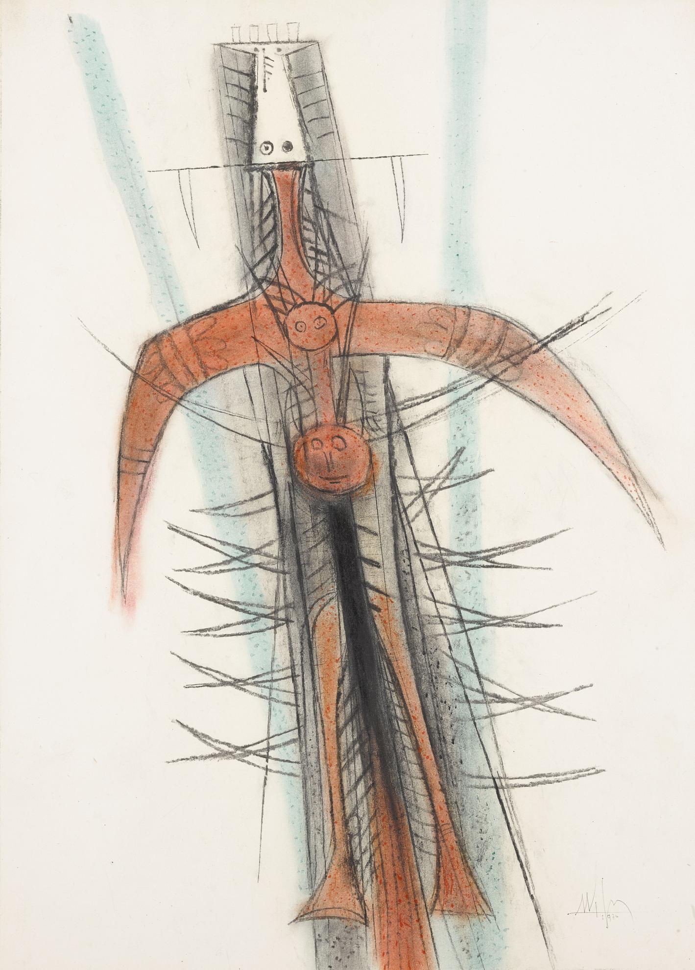 Wifredo Lam-Sans Titre-1970