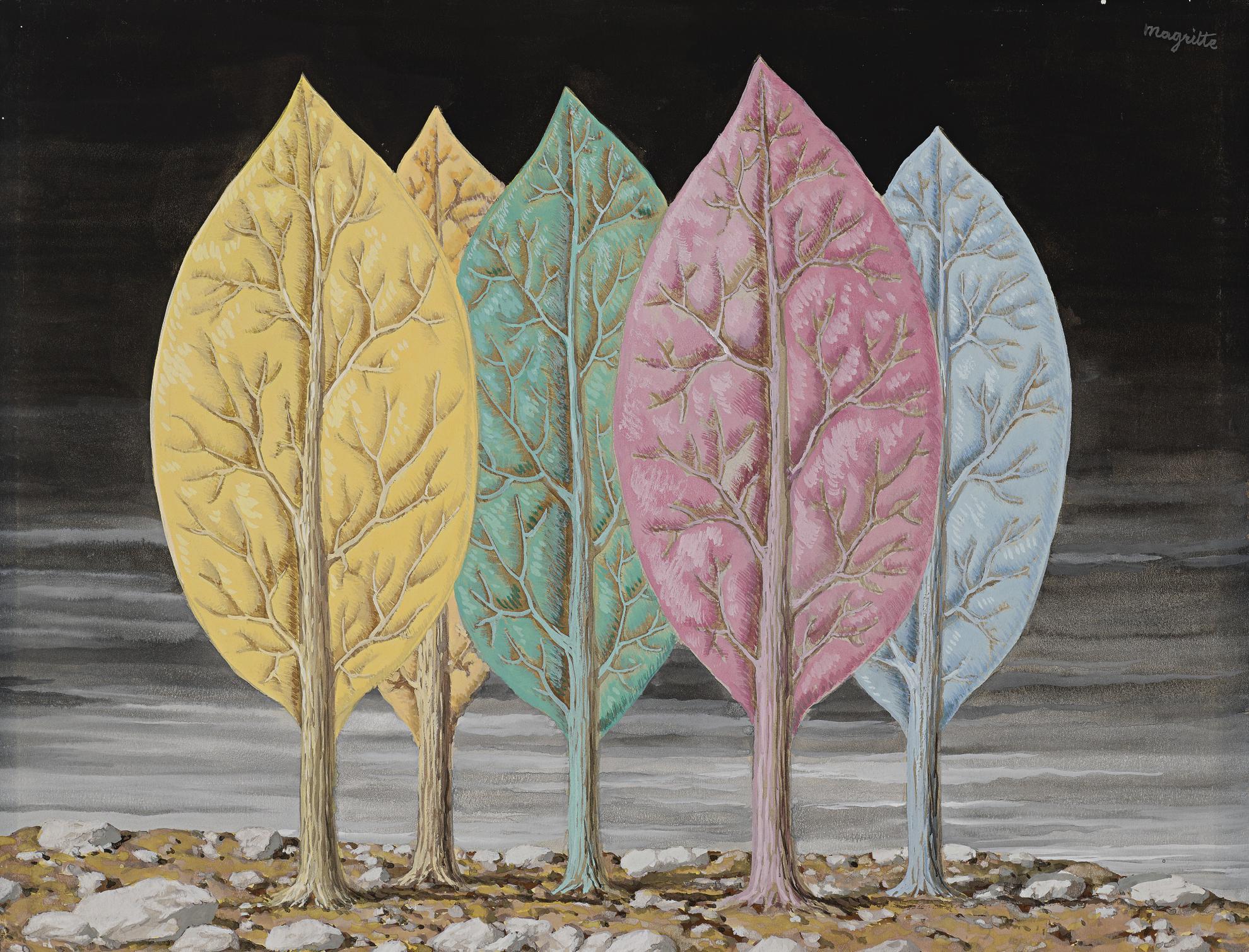 Rene Magritte-Lincendie-1948
