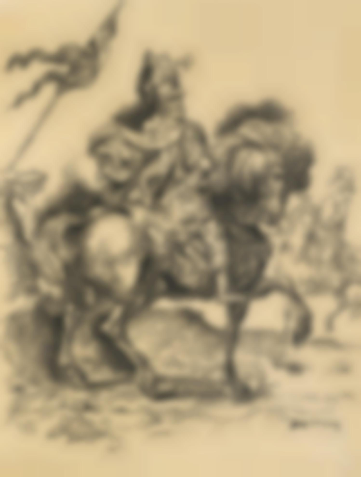 Giorgio de Chirico-Cavaliere Da Durer (Horse Rider From Durer)-1950