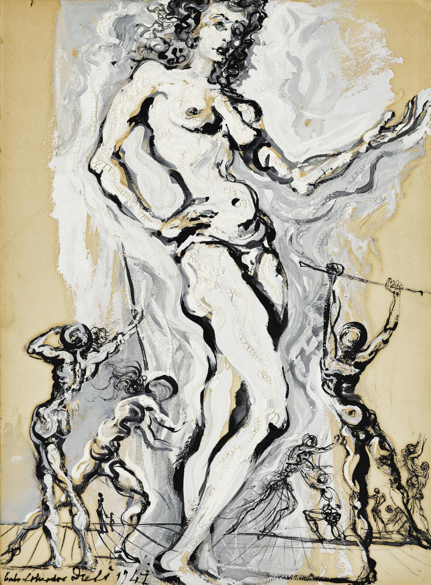 Salvador Dali-Nu Feminin Spectral-1947