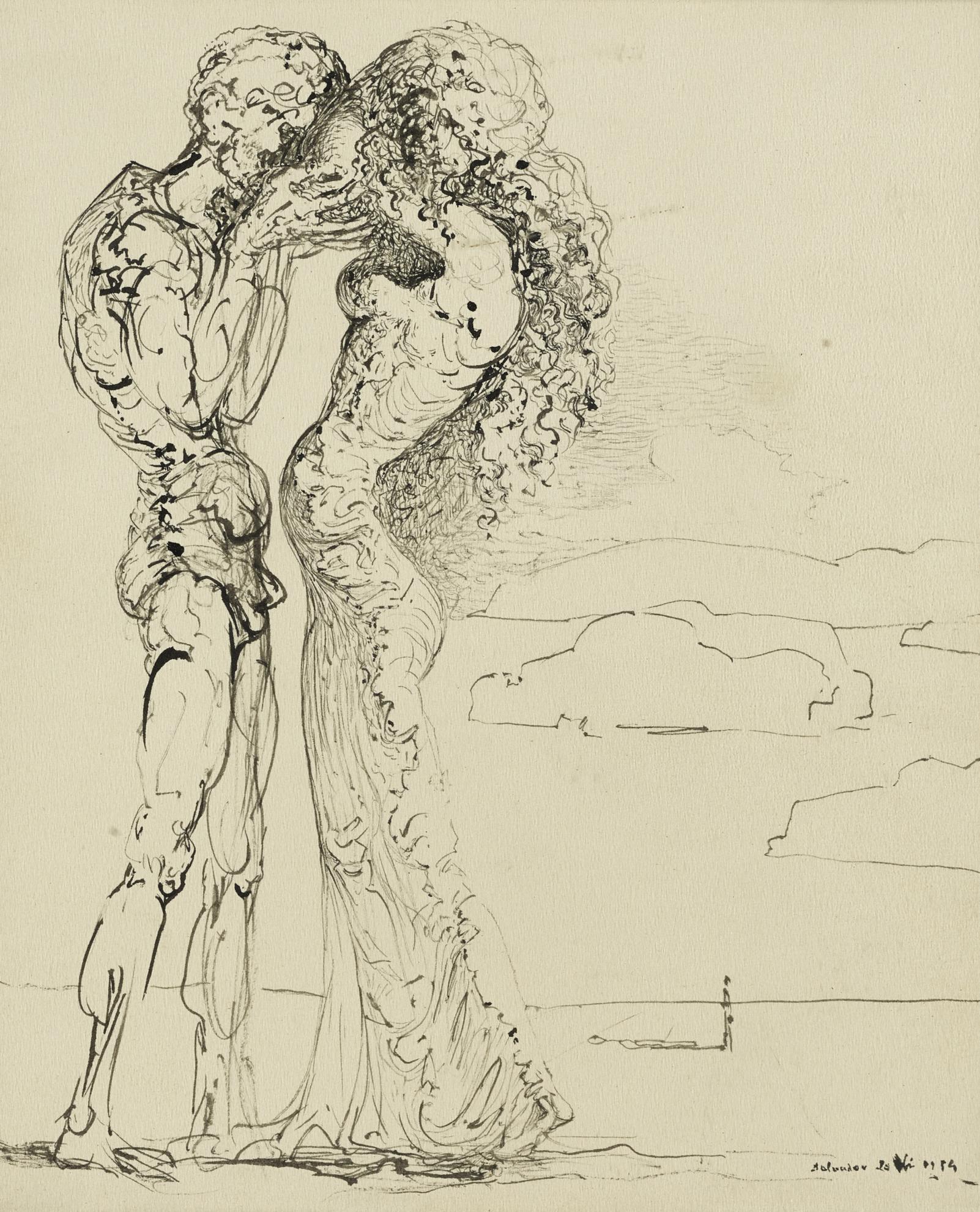 Salvador Dali-Les Amants-1934