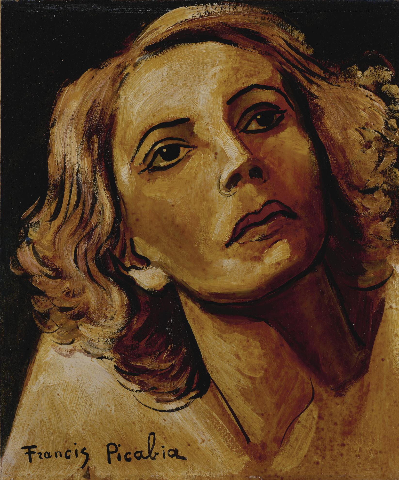Francis Picabia-Femme Rousse-1943