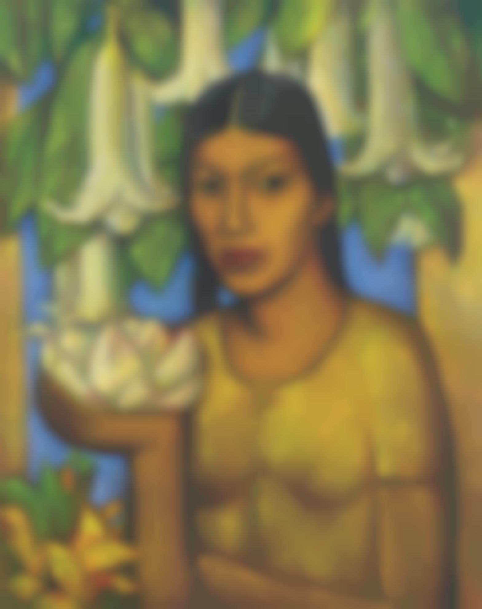 Alfredo Ramos Martinez-La India De Los Floripondios-1932