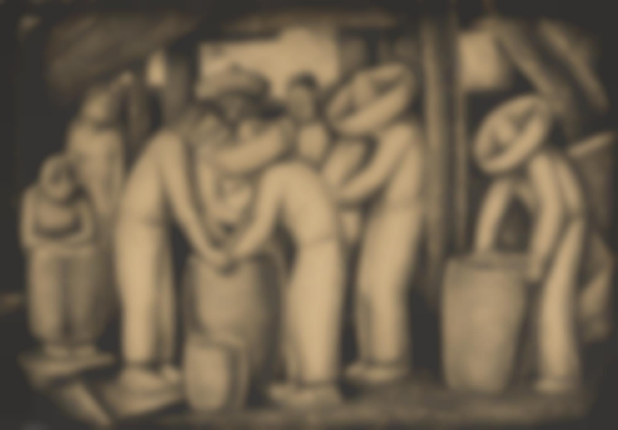 Alfredo Ramos Martinez-Los Pulqueros-1935