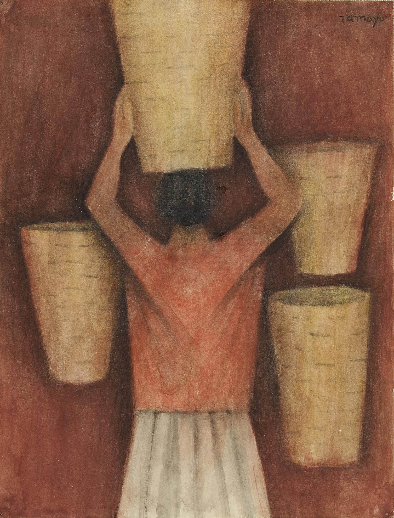 Rufino Tamayo-Mujer Con Canastos-