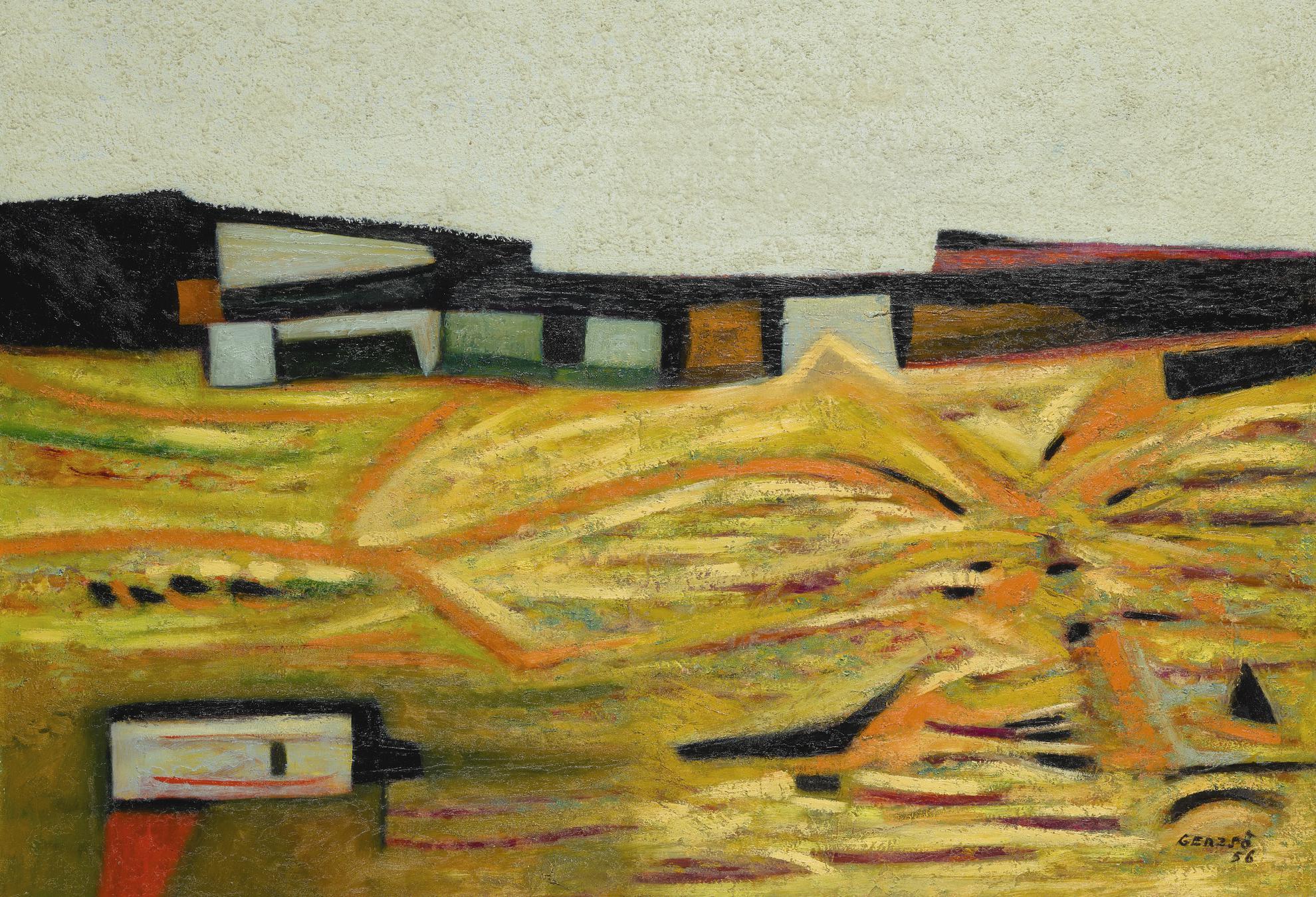 Gunther Gerzso-Paisaje De San Angel-1956