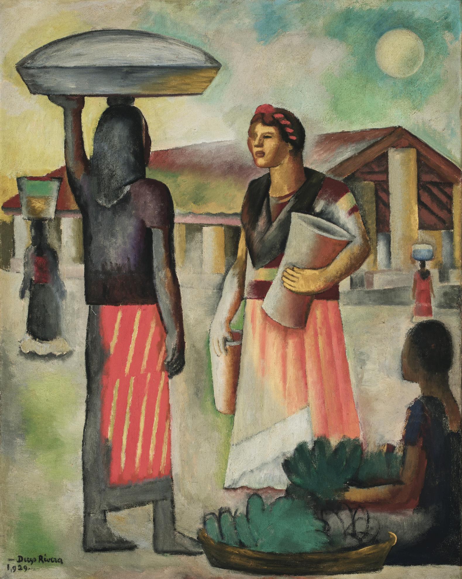Diego Rivera-Luna Sobre El Mercado-1929