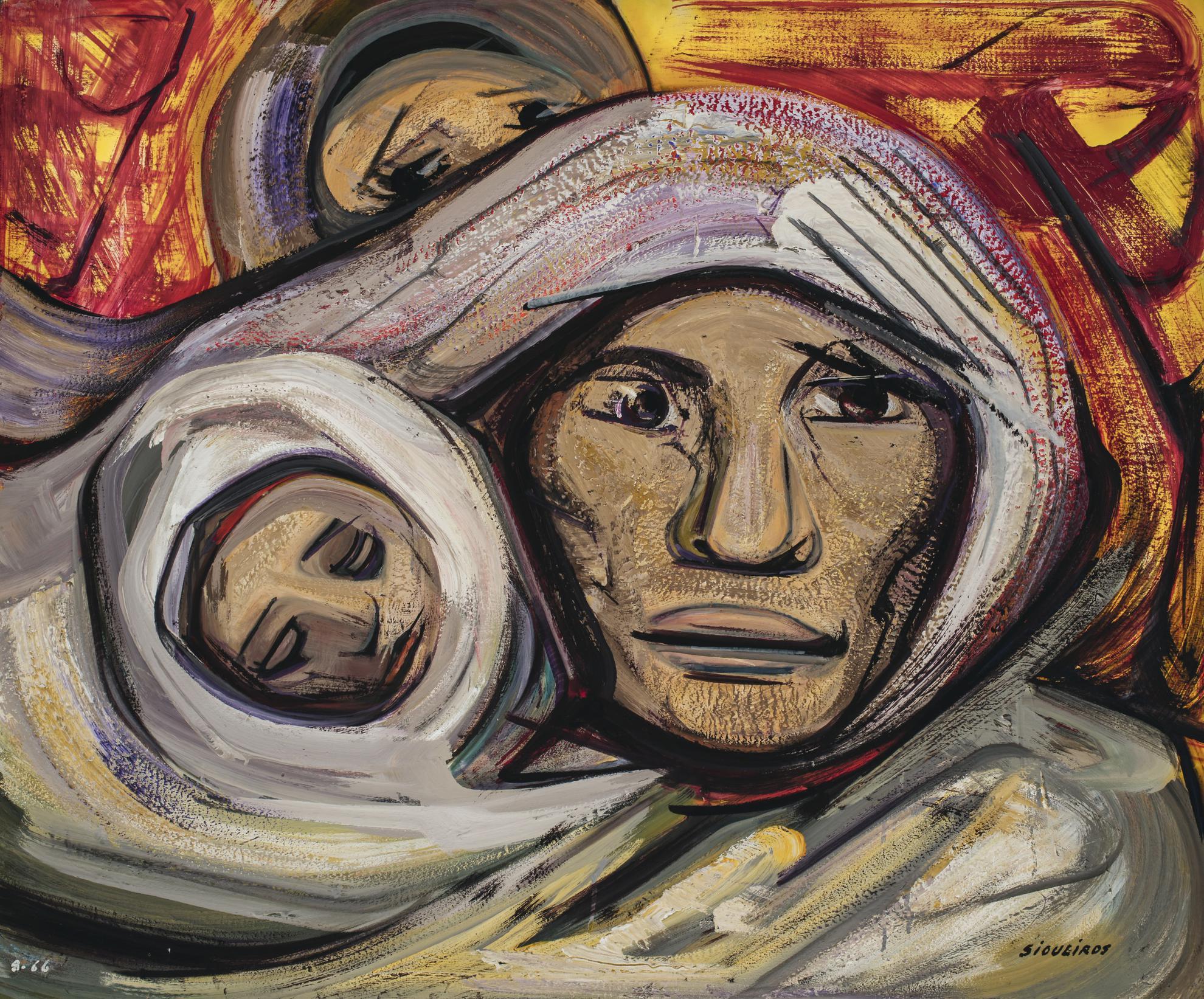 David Alfaro Siqueiros-Mujer Con Nino-1966