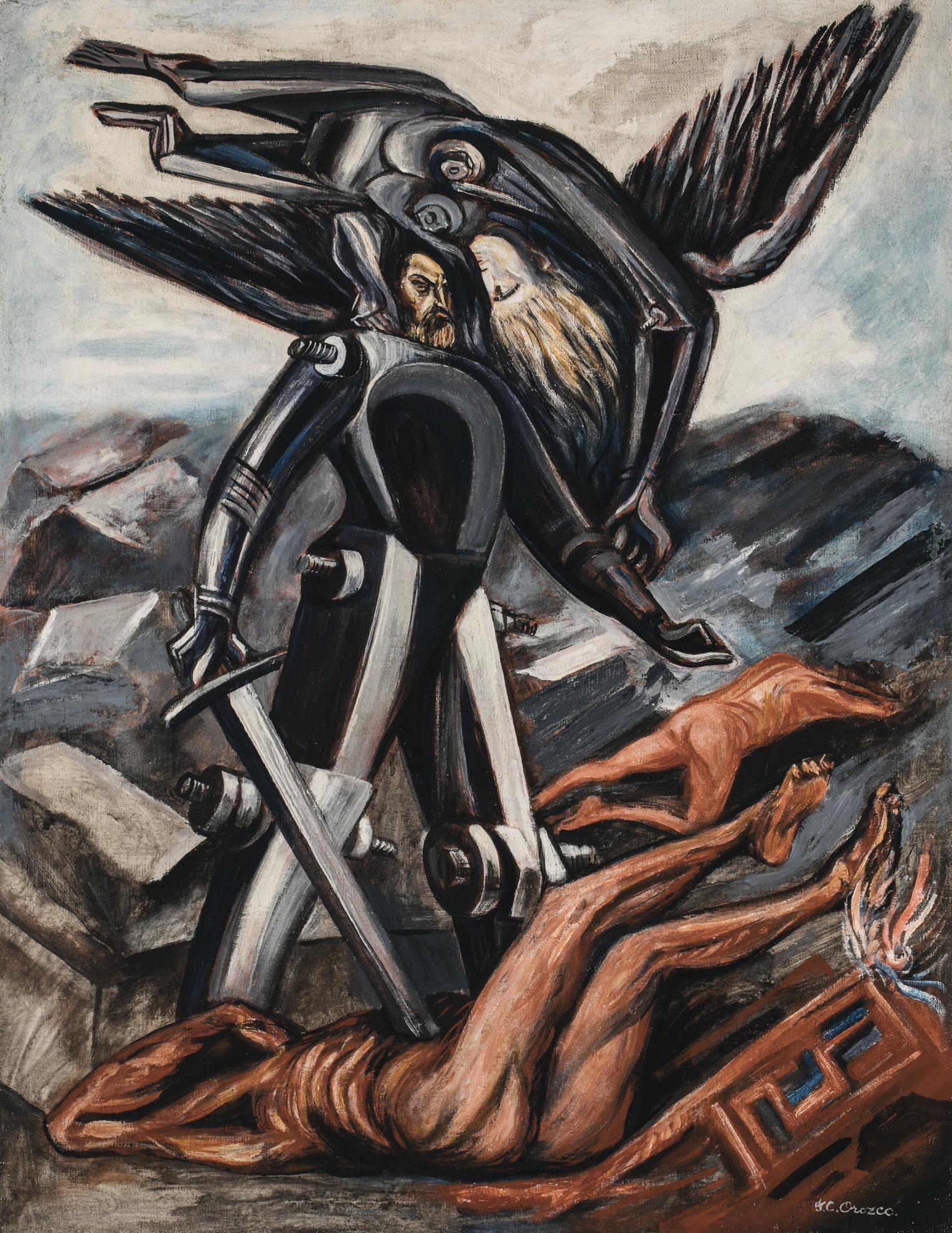 Jose Clemente Orozco-La Conquista-1942