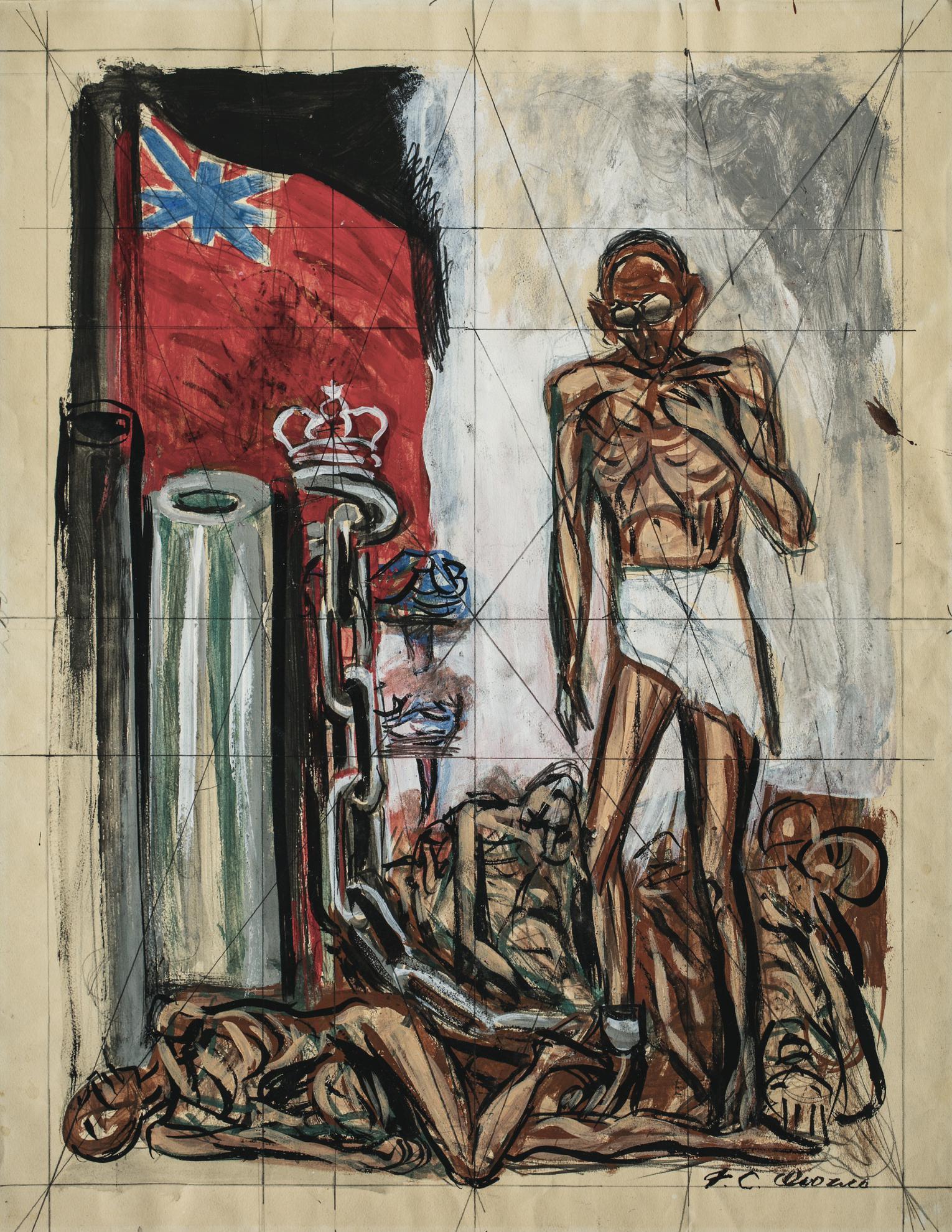 Jose Clemente Orozco-Estudio Para Gandhi Y El Imperialismo Ingles-1943