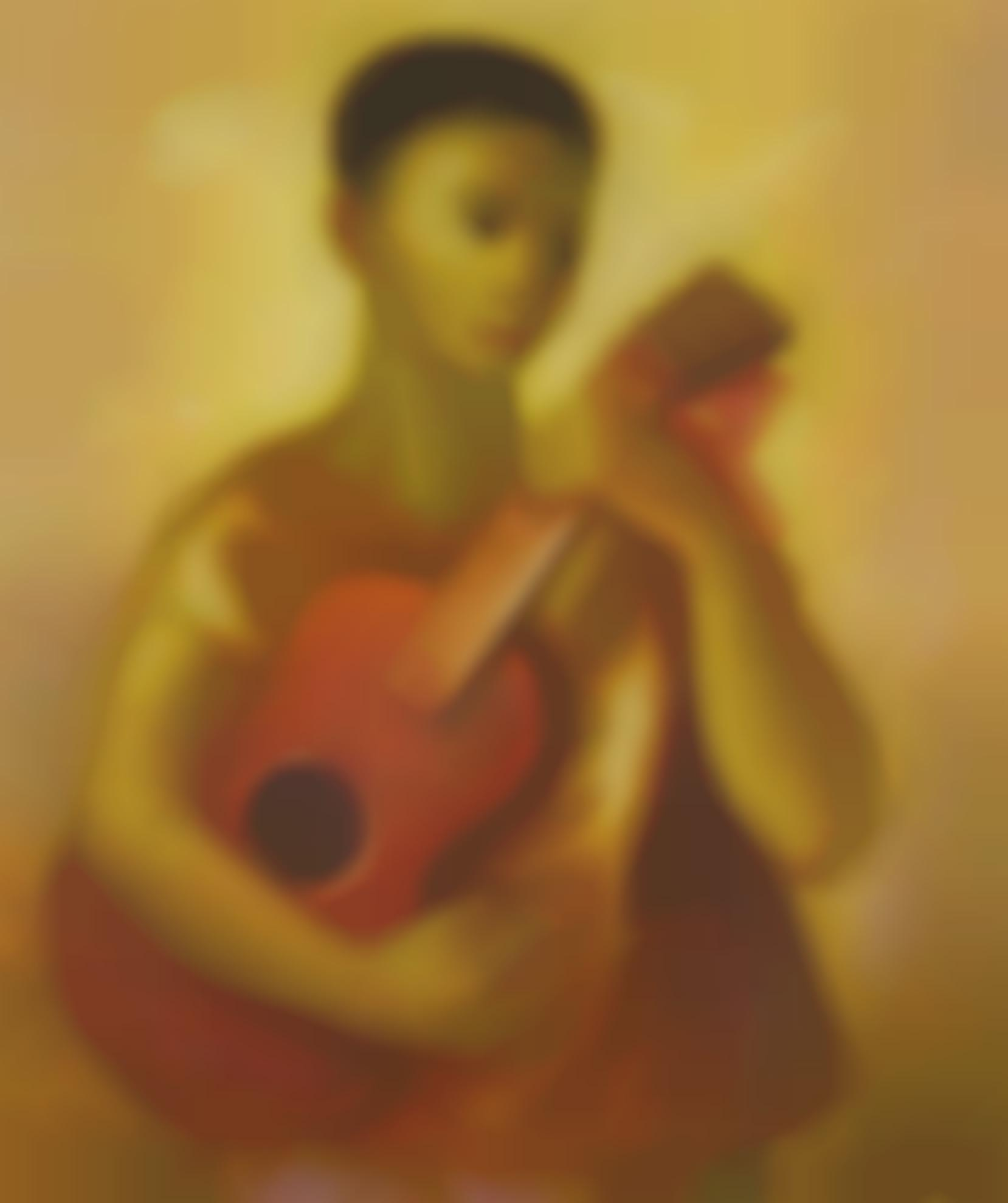 Jesus Guerrero Galvan-Nino Con Guitarra-1959