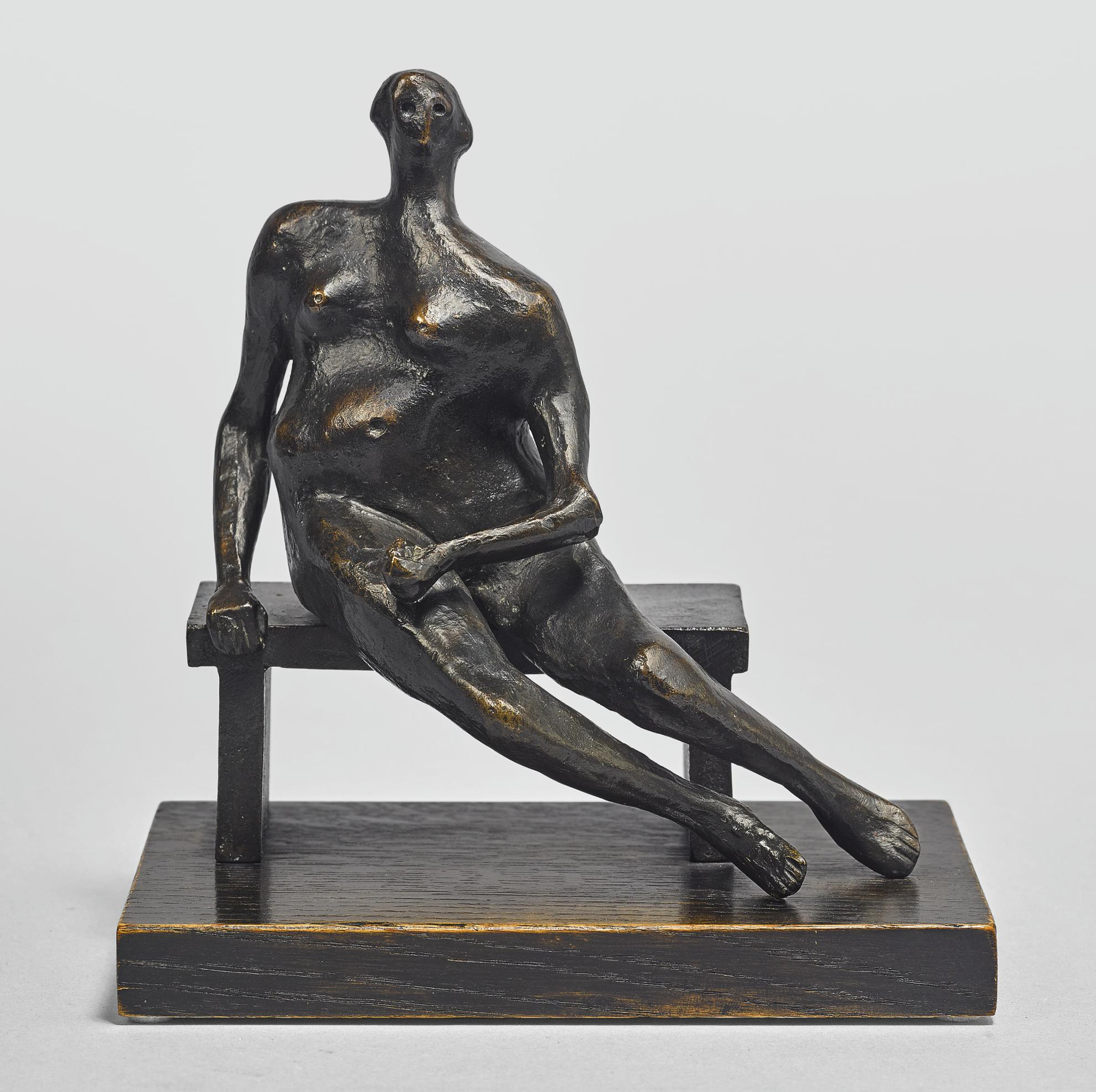 Henry Moore-Maquette For Seated Woman-1956