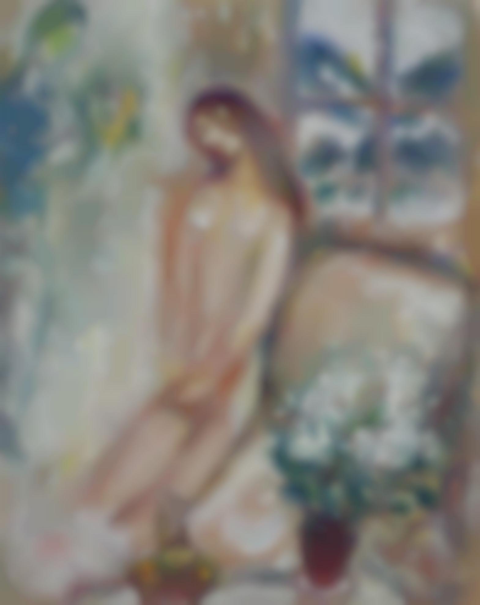 Marc Chagall-Nu Au Cyclamen, Gstaad-1971