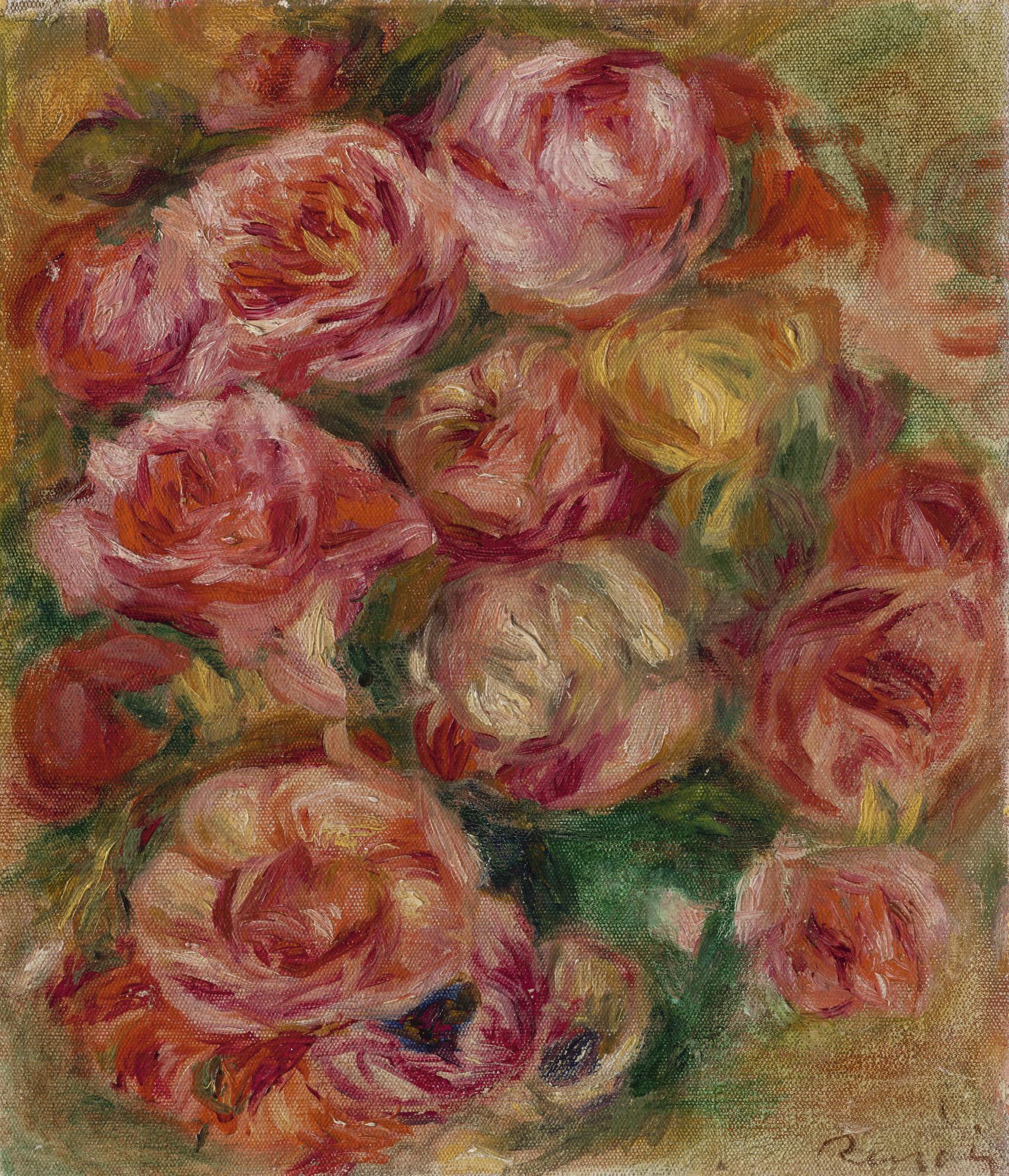 Pierre-Auguste Renoir-Jete De Roses-1915