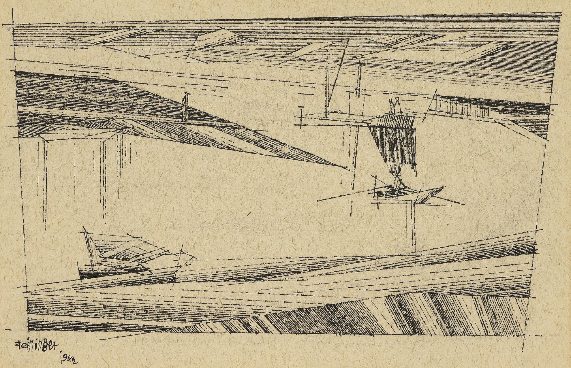 Lyonel Feininger-Harbor Scene-1942