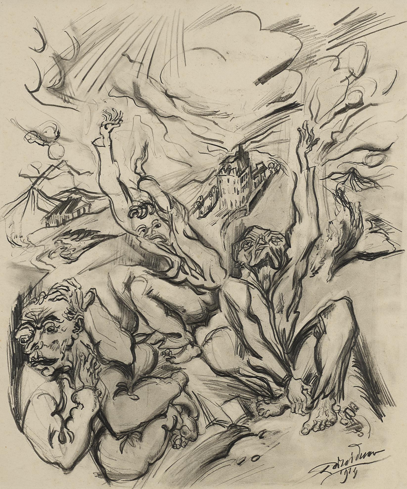 Ludwig Meidner - Angst (Fear)-1914