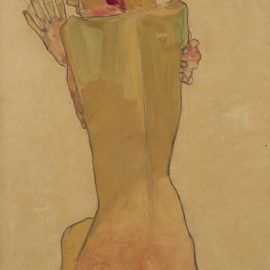 Egon Schiele-Studium Der Schwester Des Kunstlers (Study Of The Artists Sister)