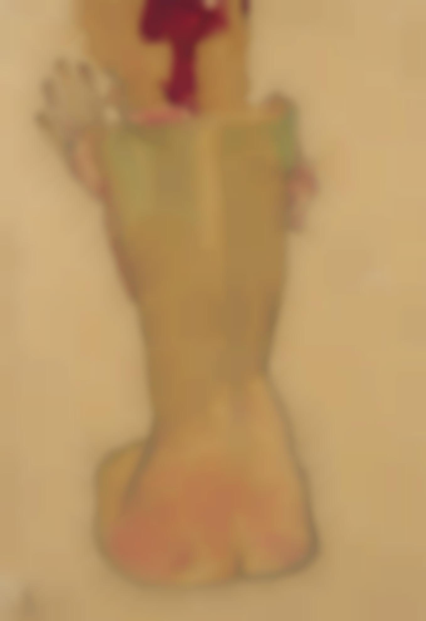 Egon Schiele-Studium Der Schwester Des Kunstlers (Study Of The Artists Sister)-