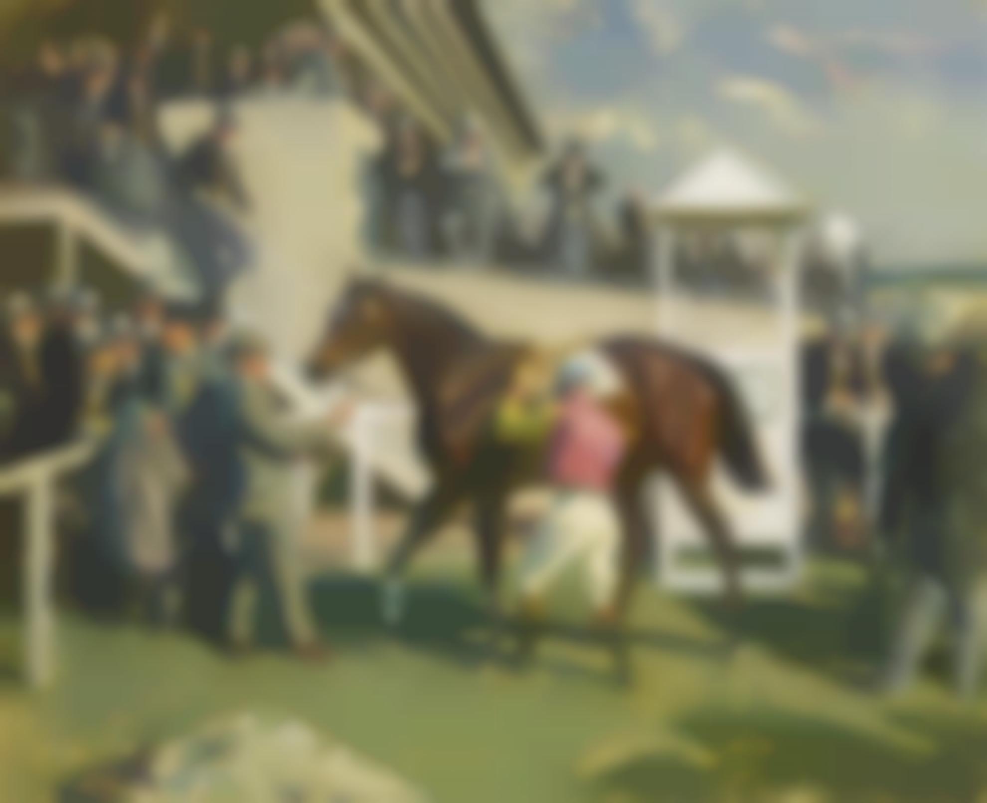 Sir Alfred James Munnings - A Winner At Epsom-