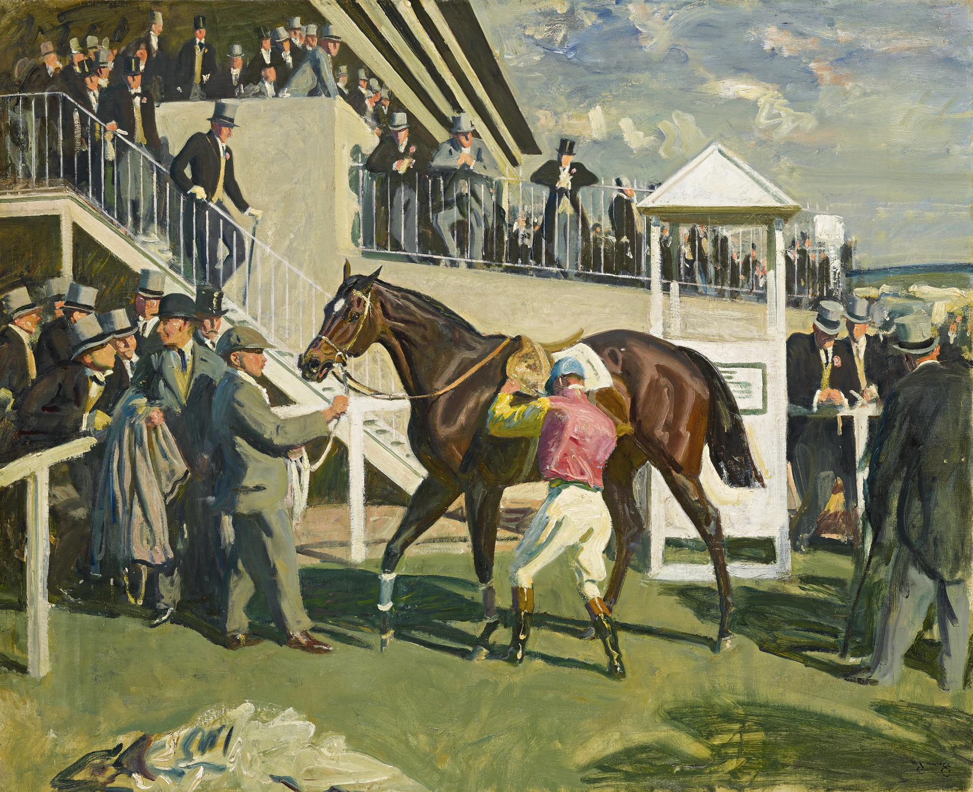Sir Alfred James Munnings - A Winner At Epsom-
