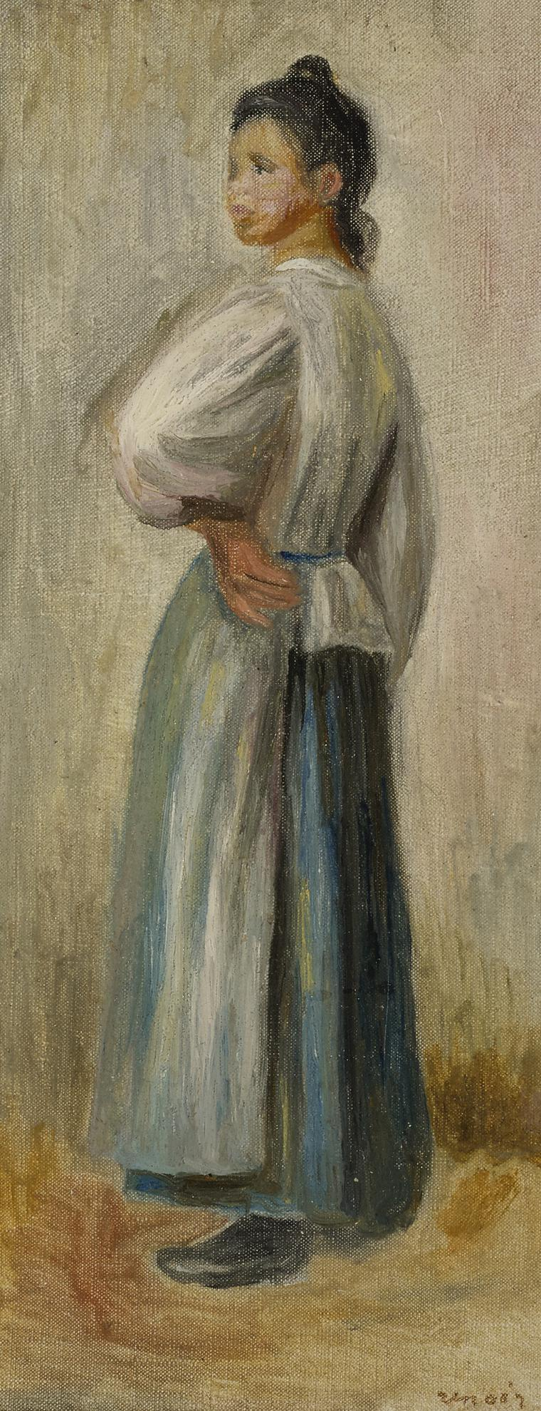 Pierre-Auguste Renoir-Jeune Paysanne-1885