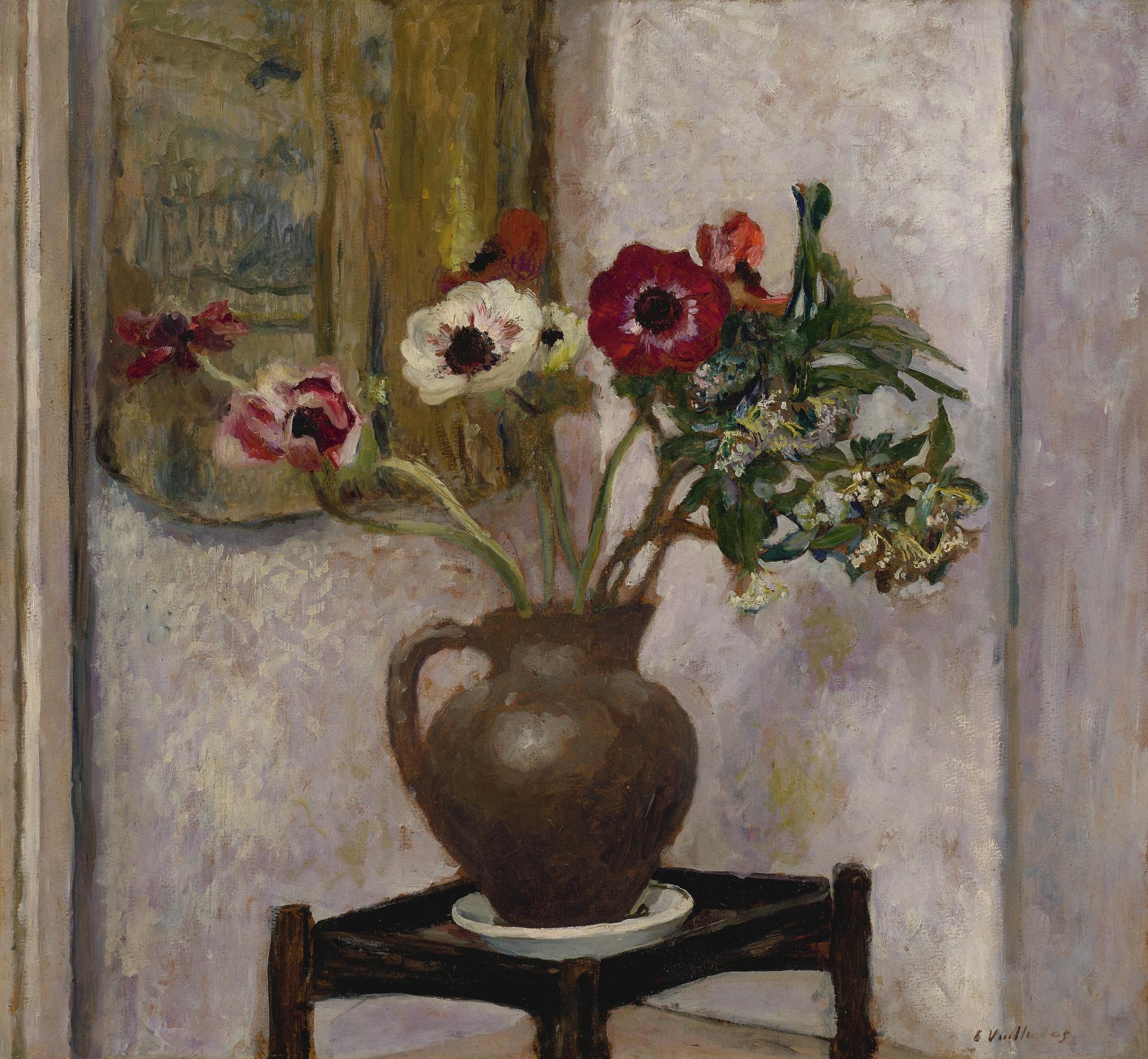 Edouard Vuillard-Vase Danemones-1905