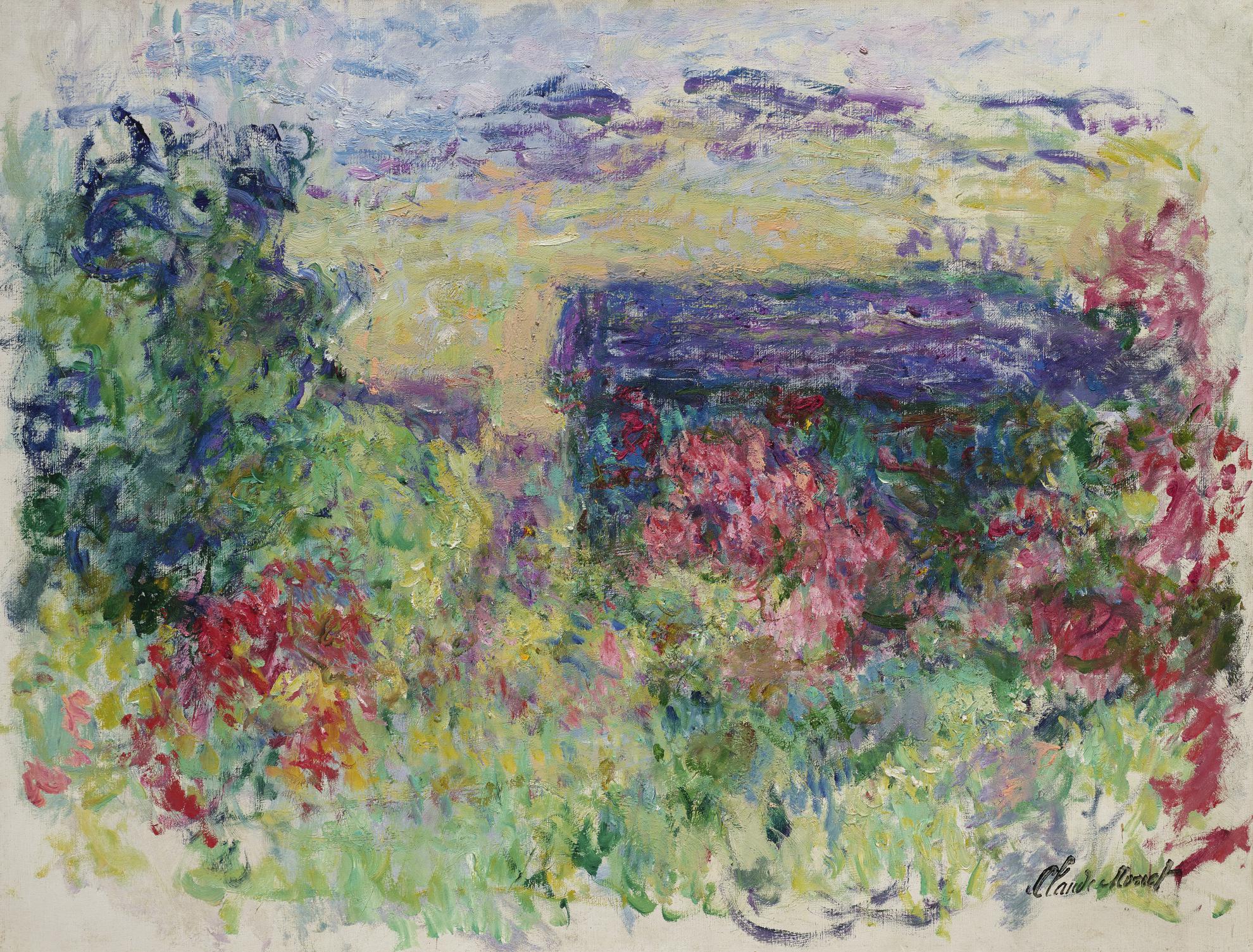 Claude Monet-La Maison A Travers Les Roses-1926