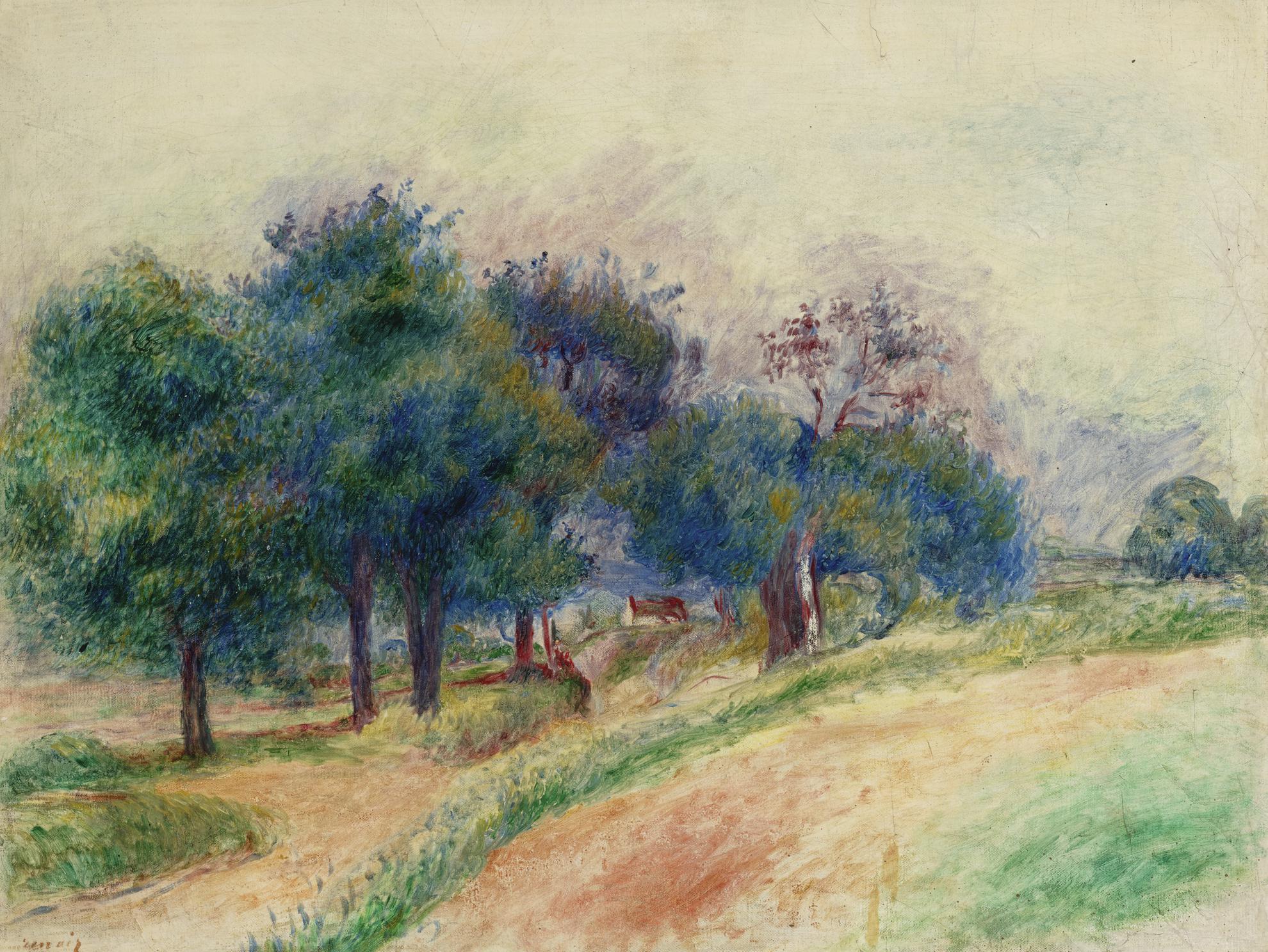 Pierre-Auguste Renoir-Paysage Dessoyes-1888