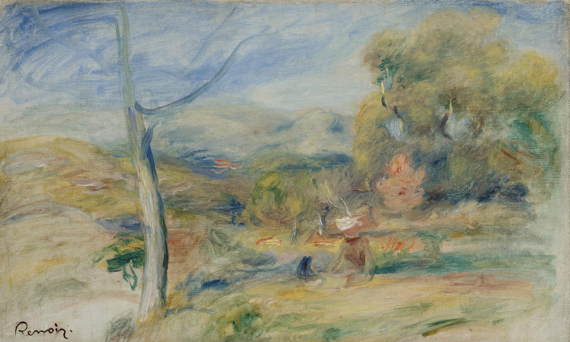 Pierre-Auguste Renoir-Paysage Pres De Cagnes-1910