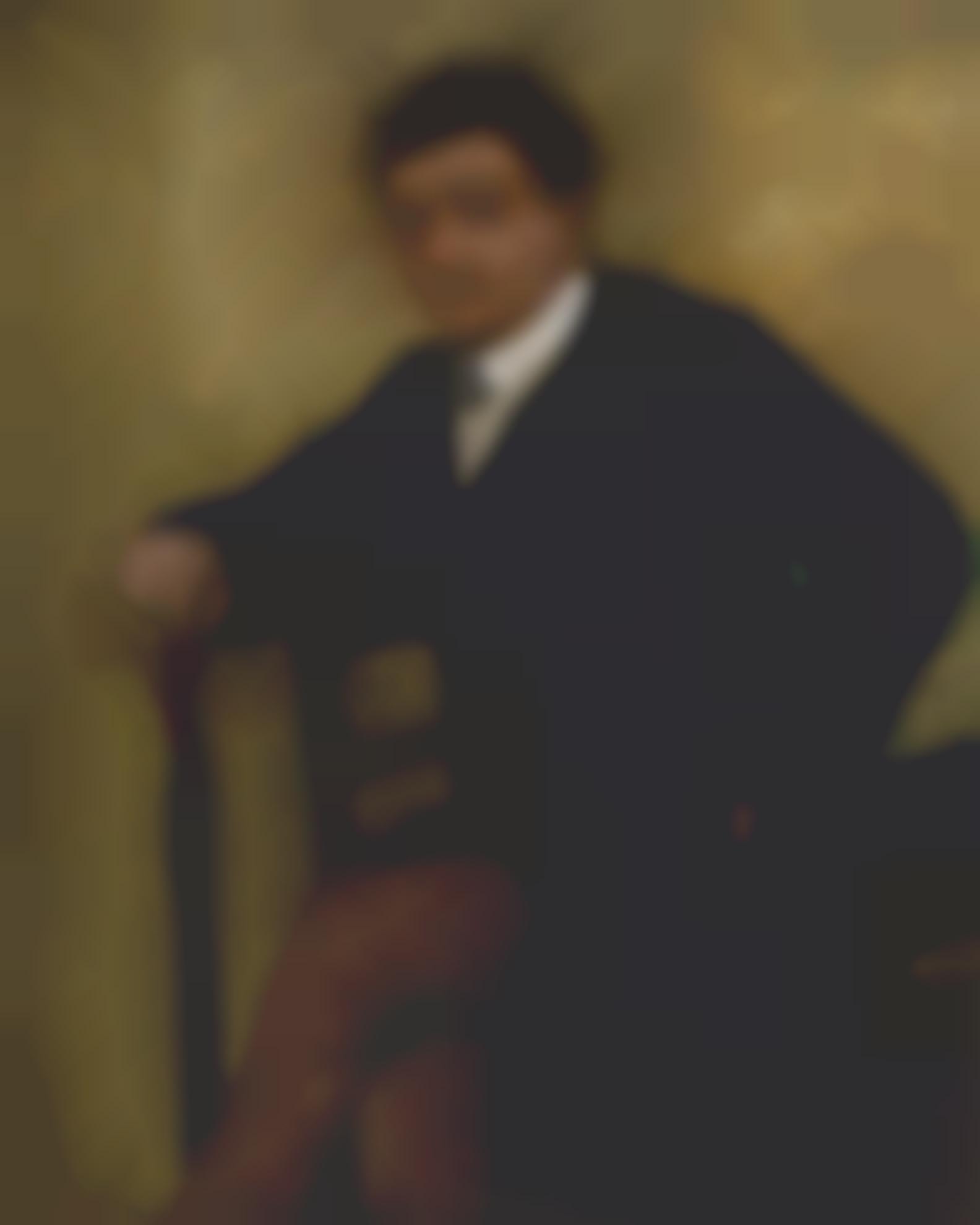 Edgar Degas-Portrait Dhomme Assis-1868