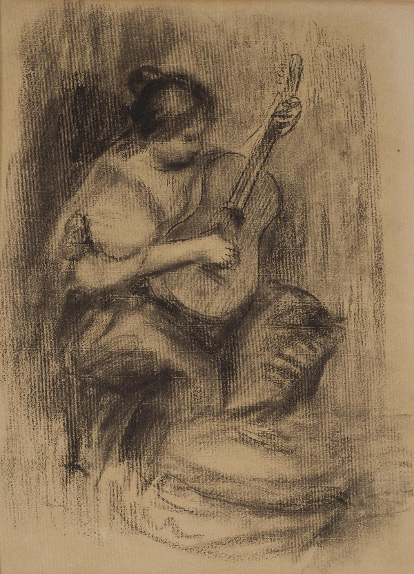 Pierre-Auguste Renoir-Joueuse De Guitar-1900