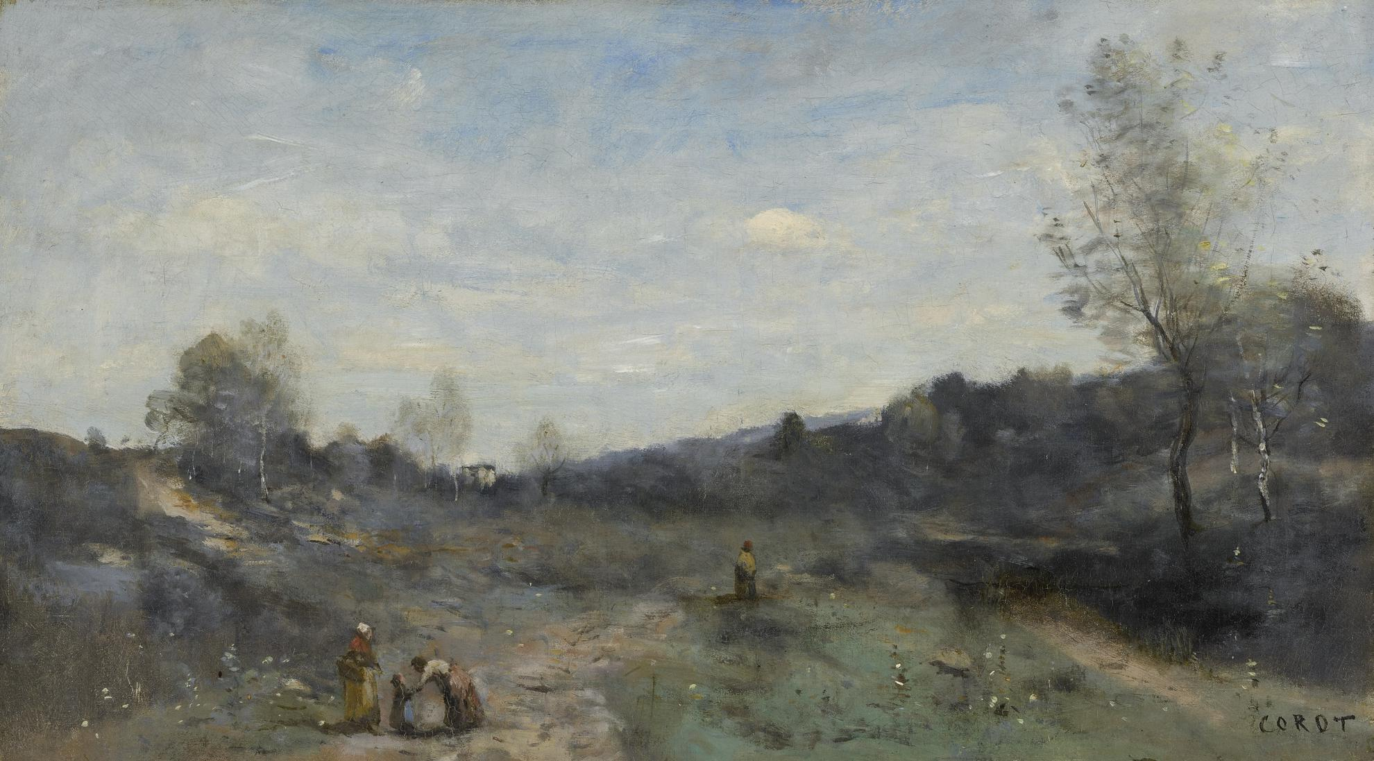 Jean-Baptiste-Camille Corot-Vallons Defriches-