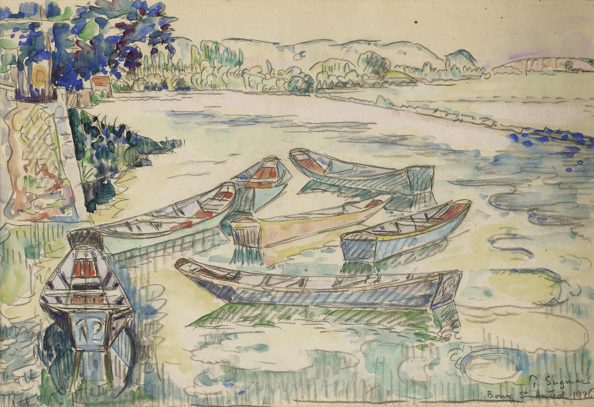 Paul Signac-Bourg Saint-Andeol-1926