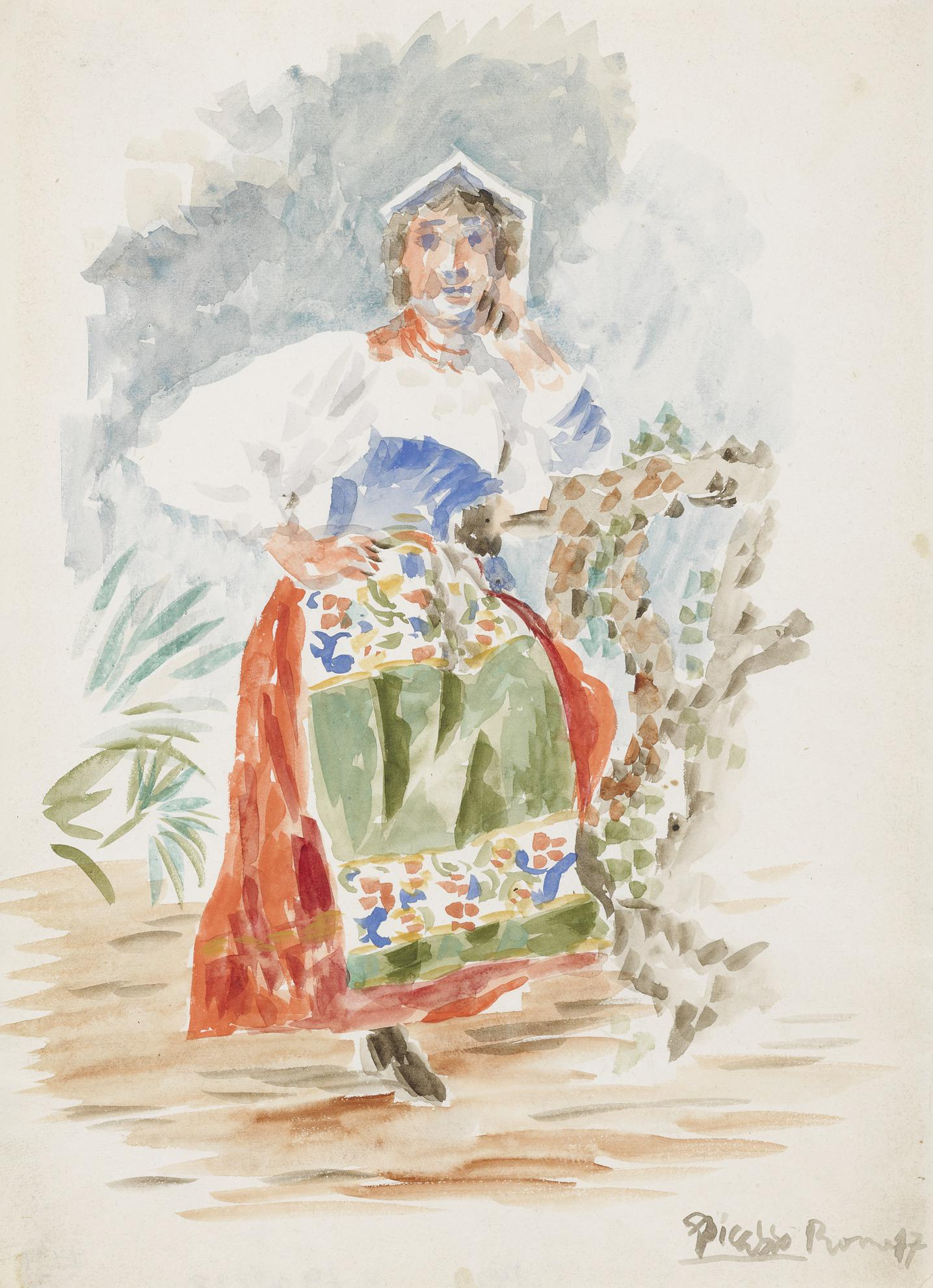 Pablo Picasso-Litalienne-1917