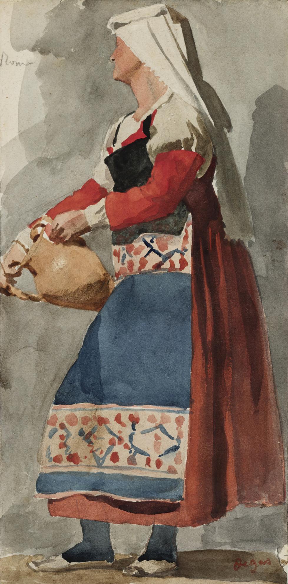 Edgar Degas-Italienne-1856