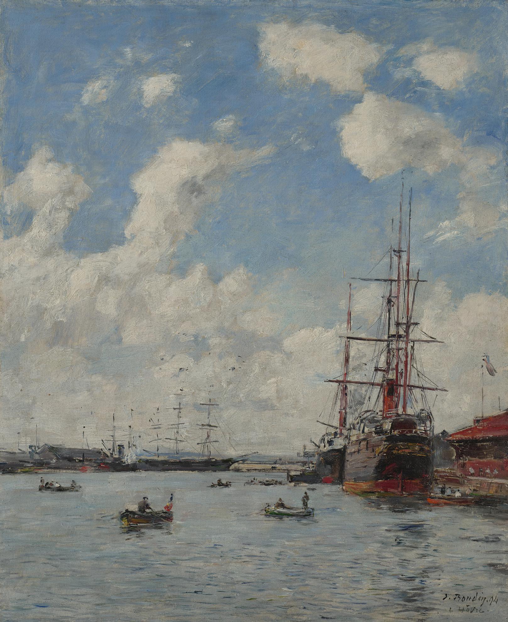 Eugene Louis Boudin-Le Havre, Le Bassin De Leure-1894