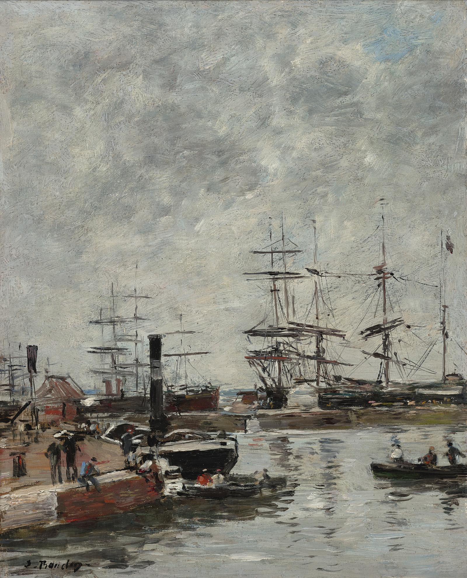 Eugene Louis Boudin-Port, Navires A Quai-1888