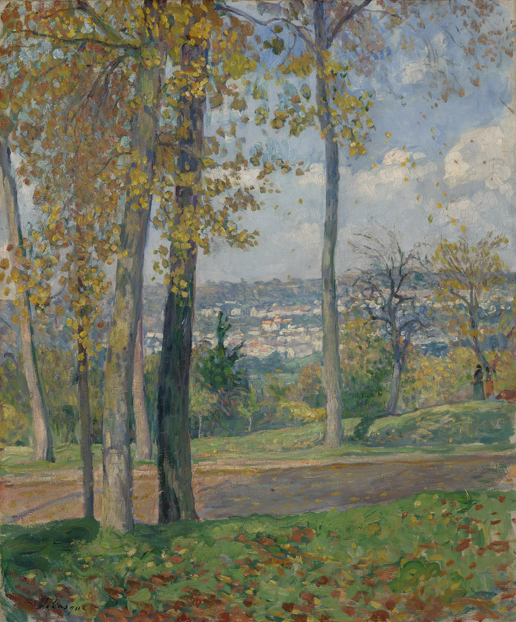 Henri Lebasque-Vue Du Parc De Saint-Cloud-1900