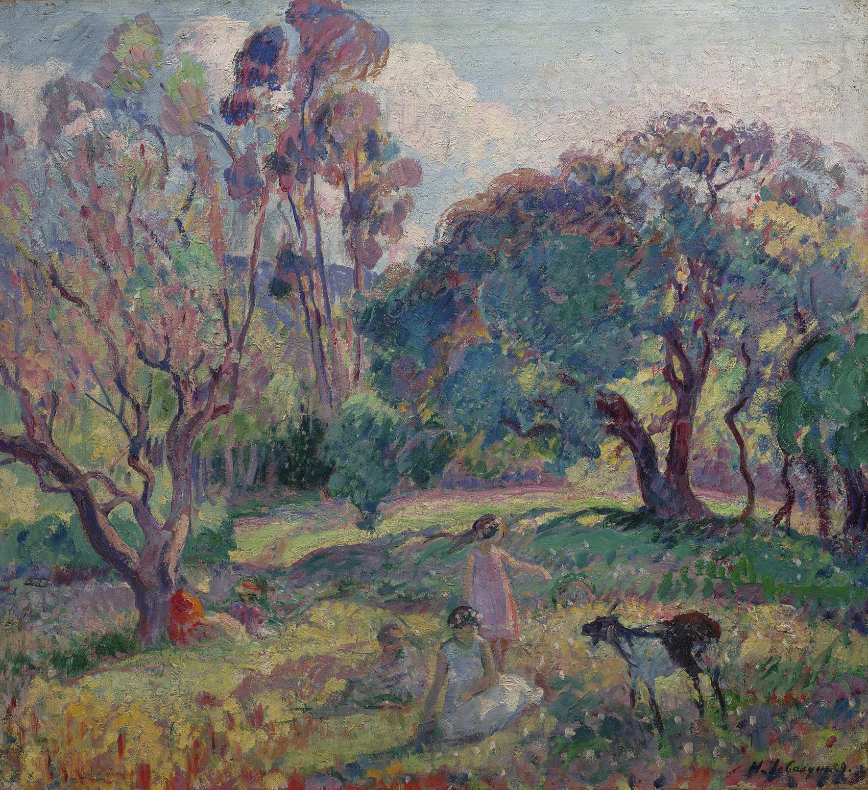 Henri Lebasque-Le Repos Sous Les Arbres-1909