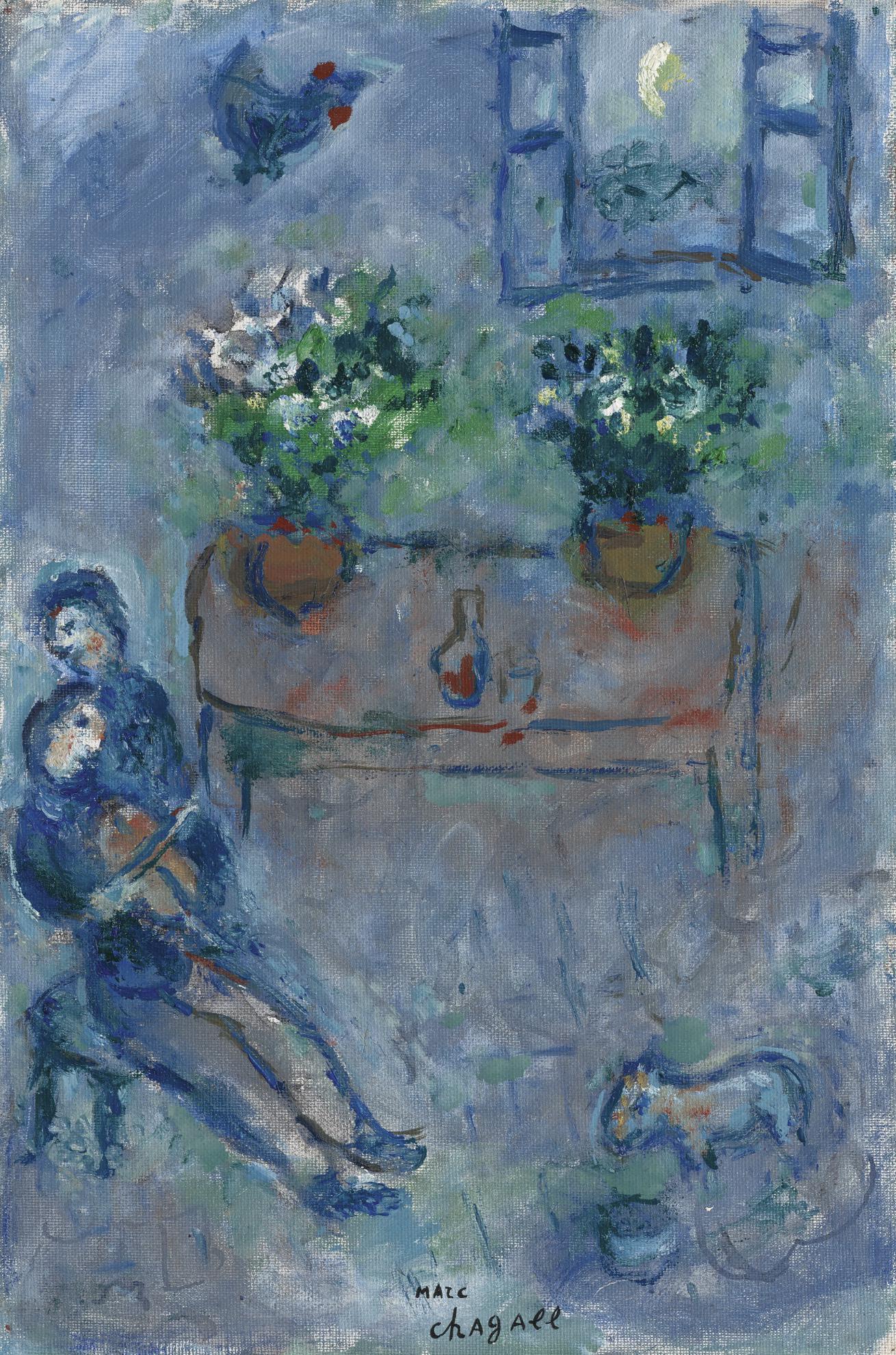 Marc Chagall-La Lecon De Violon-1978
