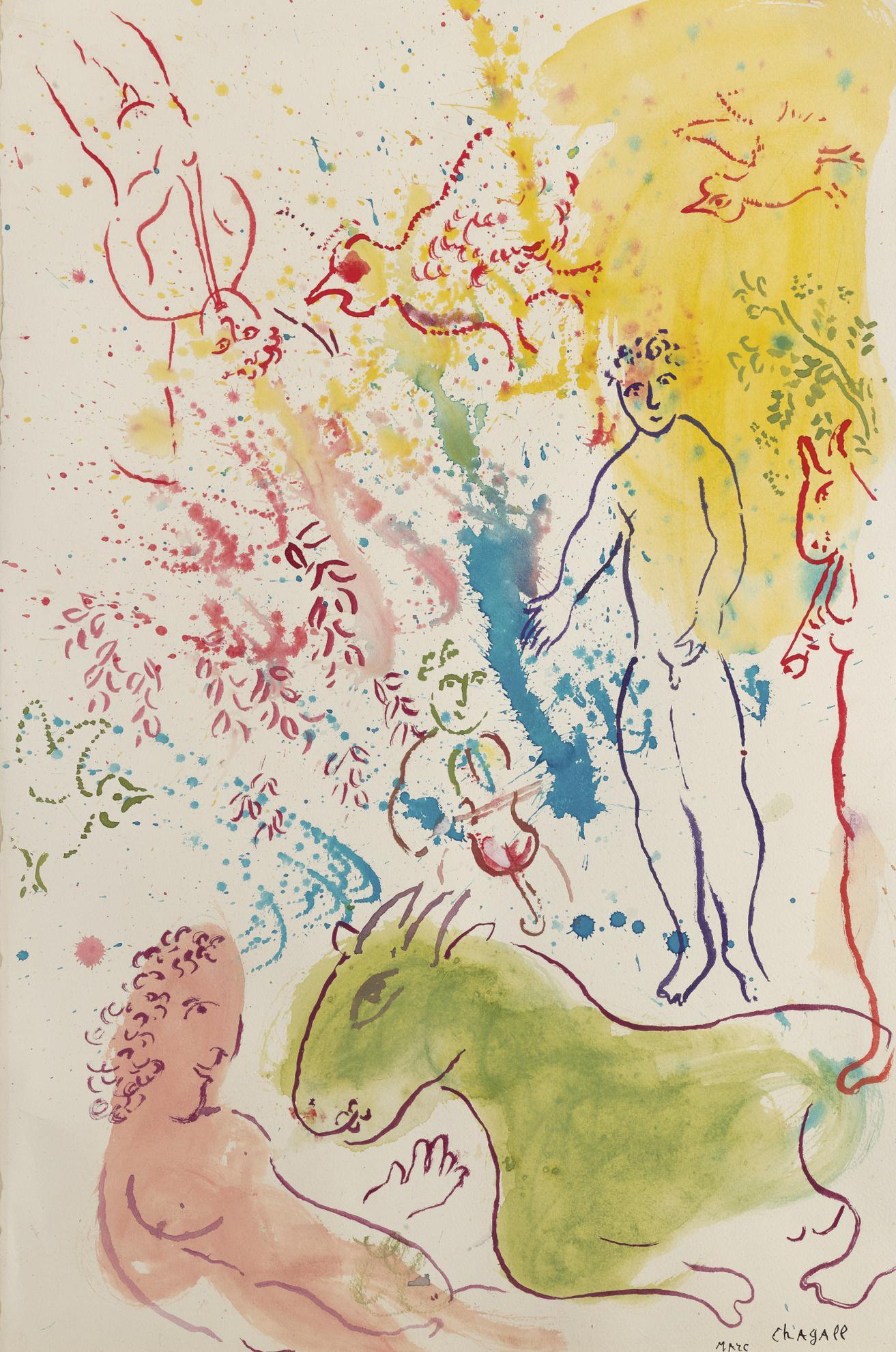 Marc Chagall-La Fete Autour Du Nu Rose-1980
