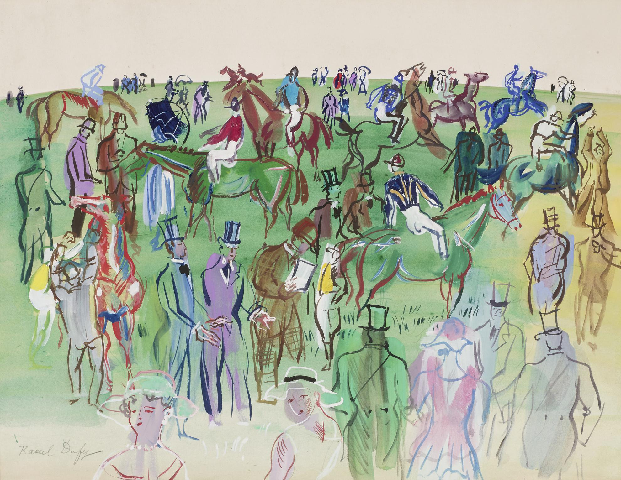Raoul Dufy-Le Pelouse (Epsom Downs)-
