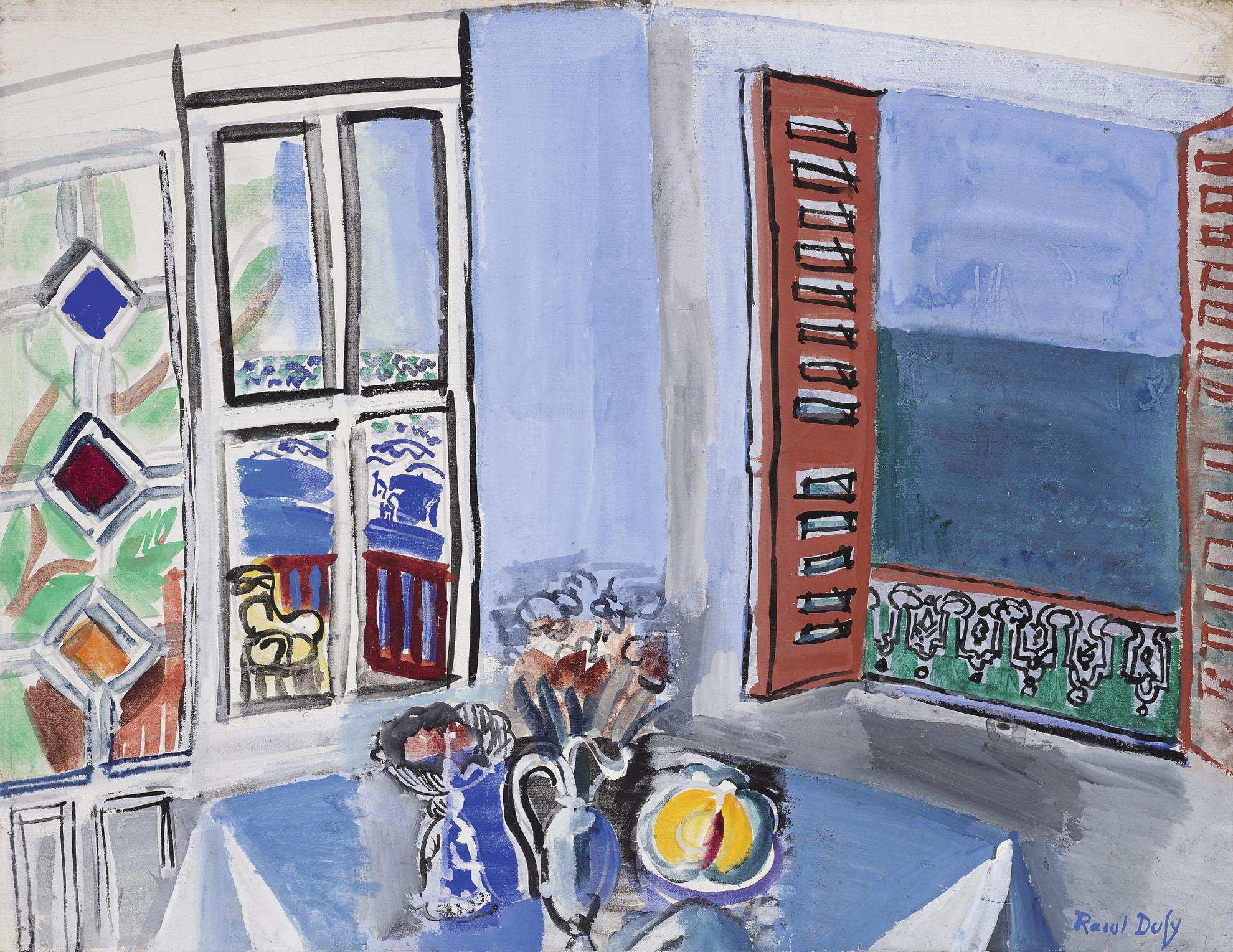 Raoul Dufy-Latelier De Lartiste Au Havre-1929