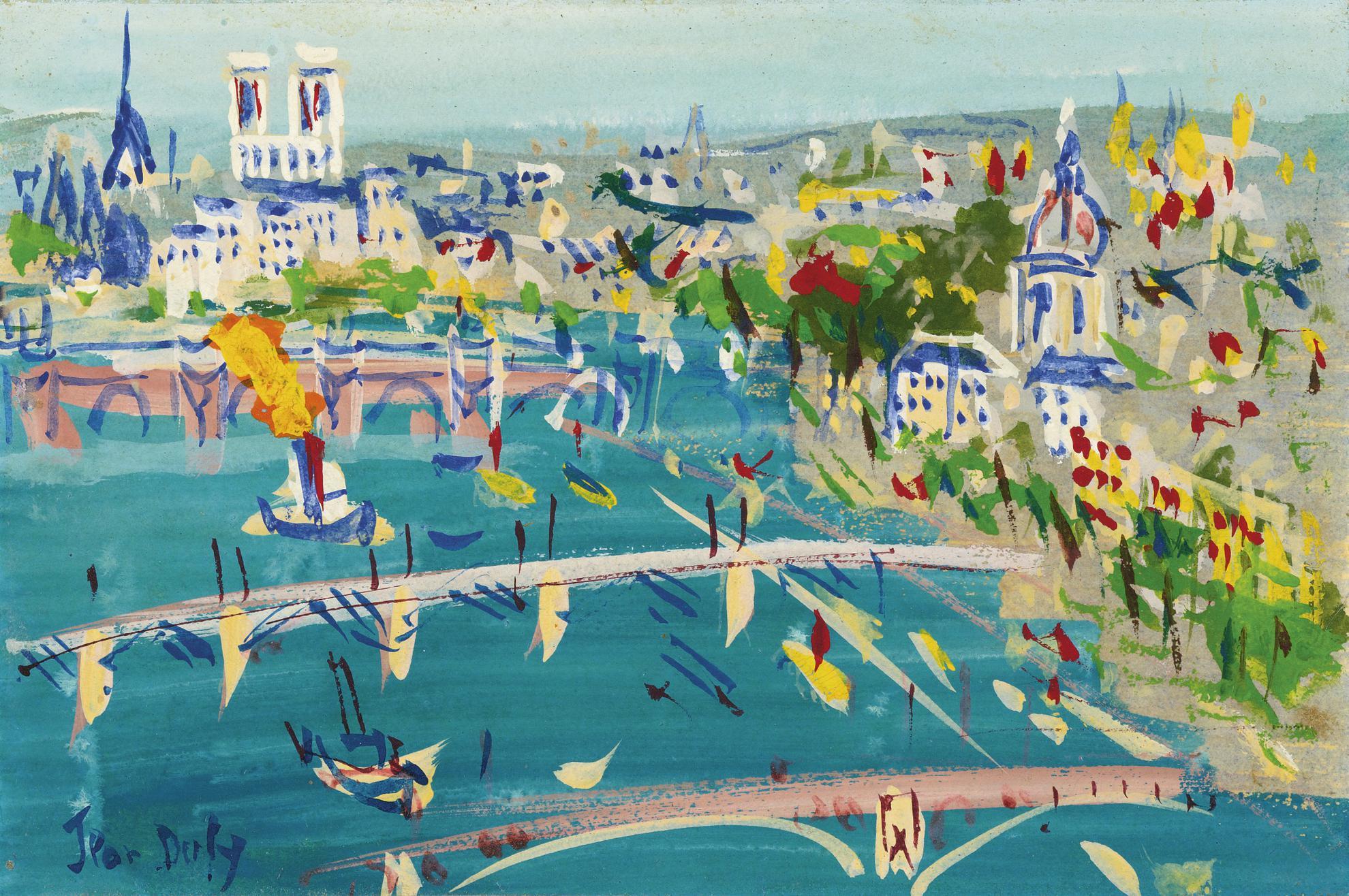 Jean Dufy-La Seine Au Pont Du Carrousel-