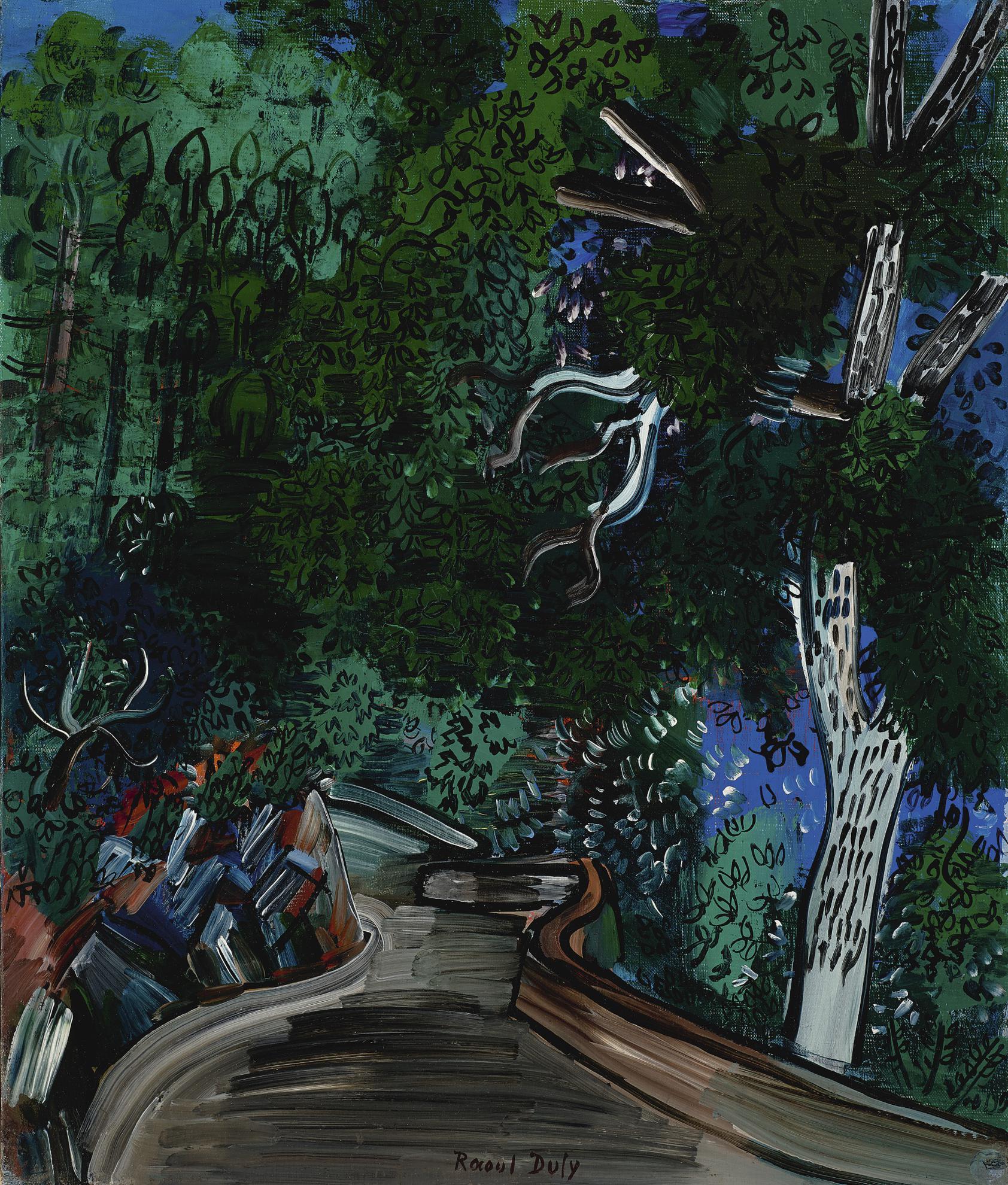 Raoul Dufy-Sous-Bois A Vallauris-1927