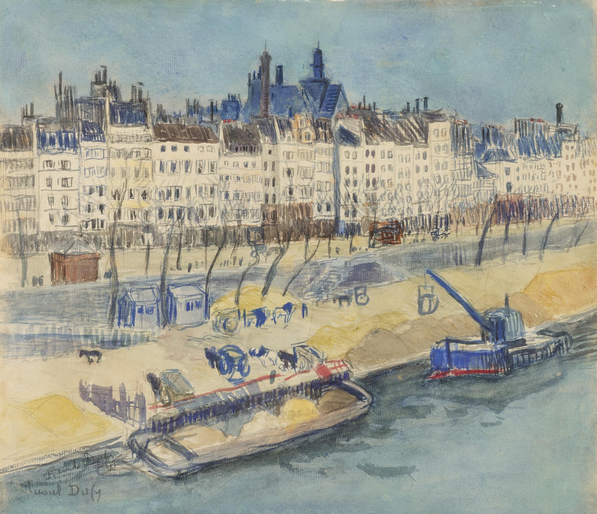 Raoul Dufy-Paris, Peniches A Quai-1902