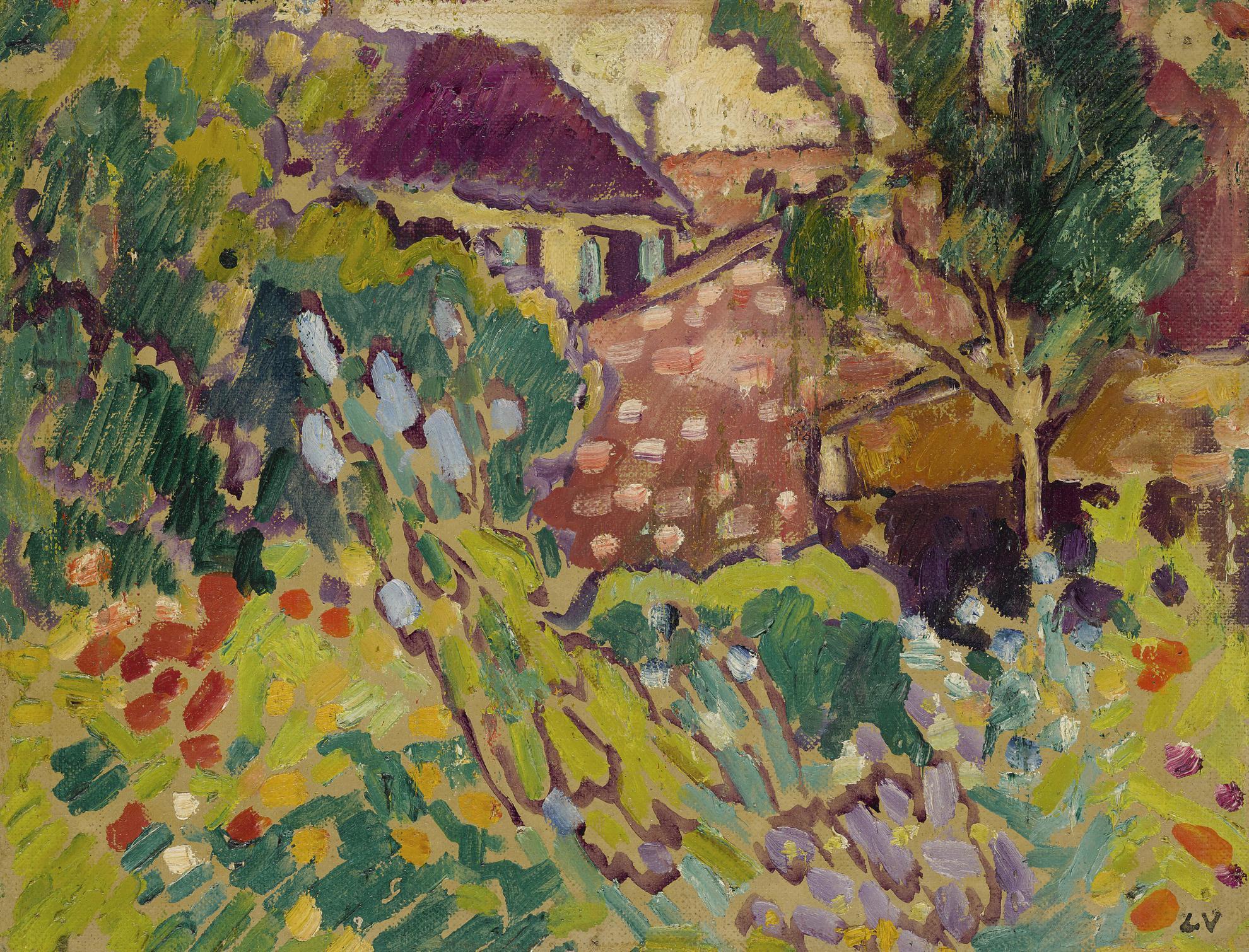 Louis Valtat-Jardin De Choisel-1930