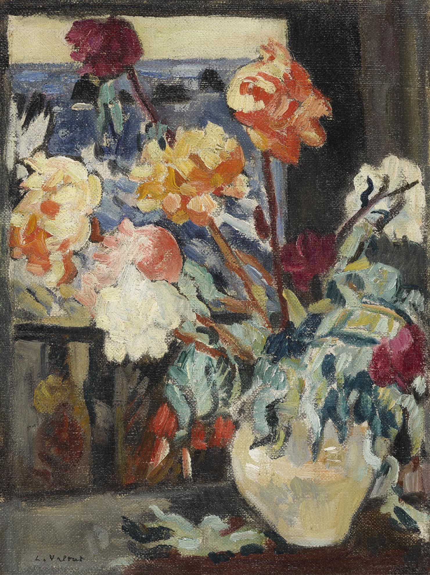 Louis Valtat-Vase De Pivoines Devant Une Fenetre-1916