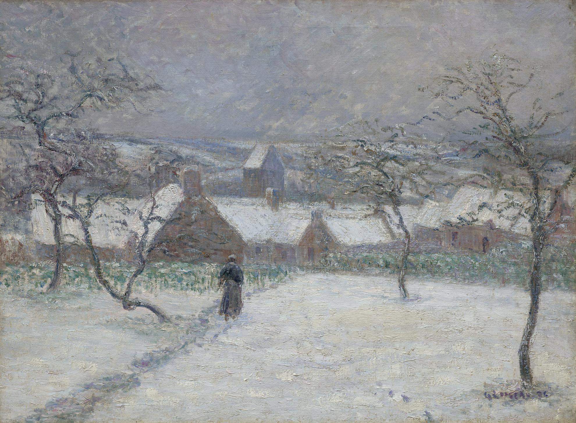 Gustave Loiseau-La Neige A Montain-1894