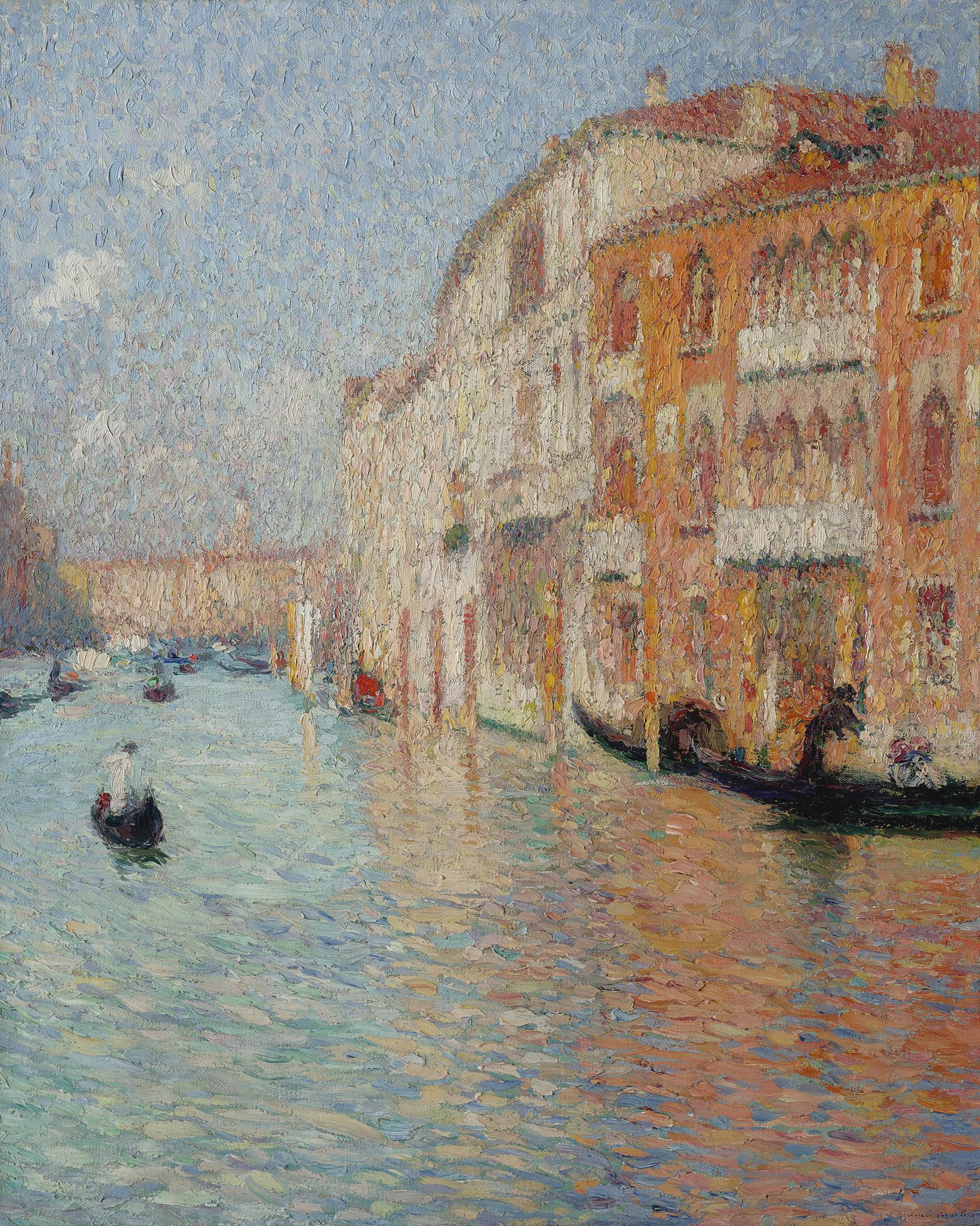 Henri Martin-Le Palais Jaune, Venise-1910